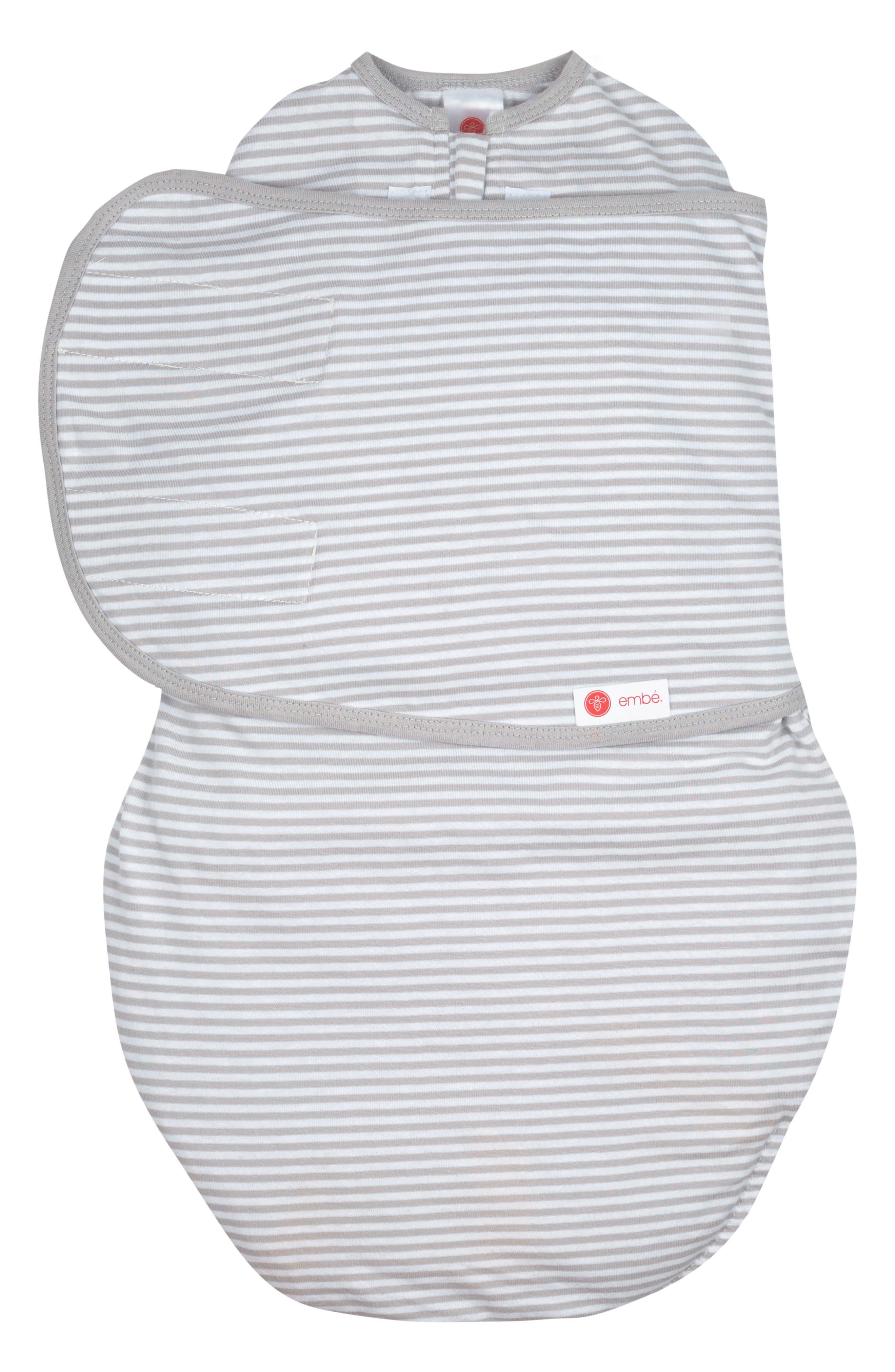 2-Way Swaddle,                         Main,                         color, Grey Stripe