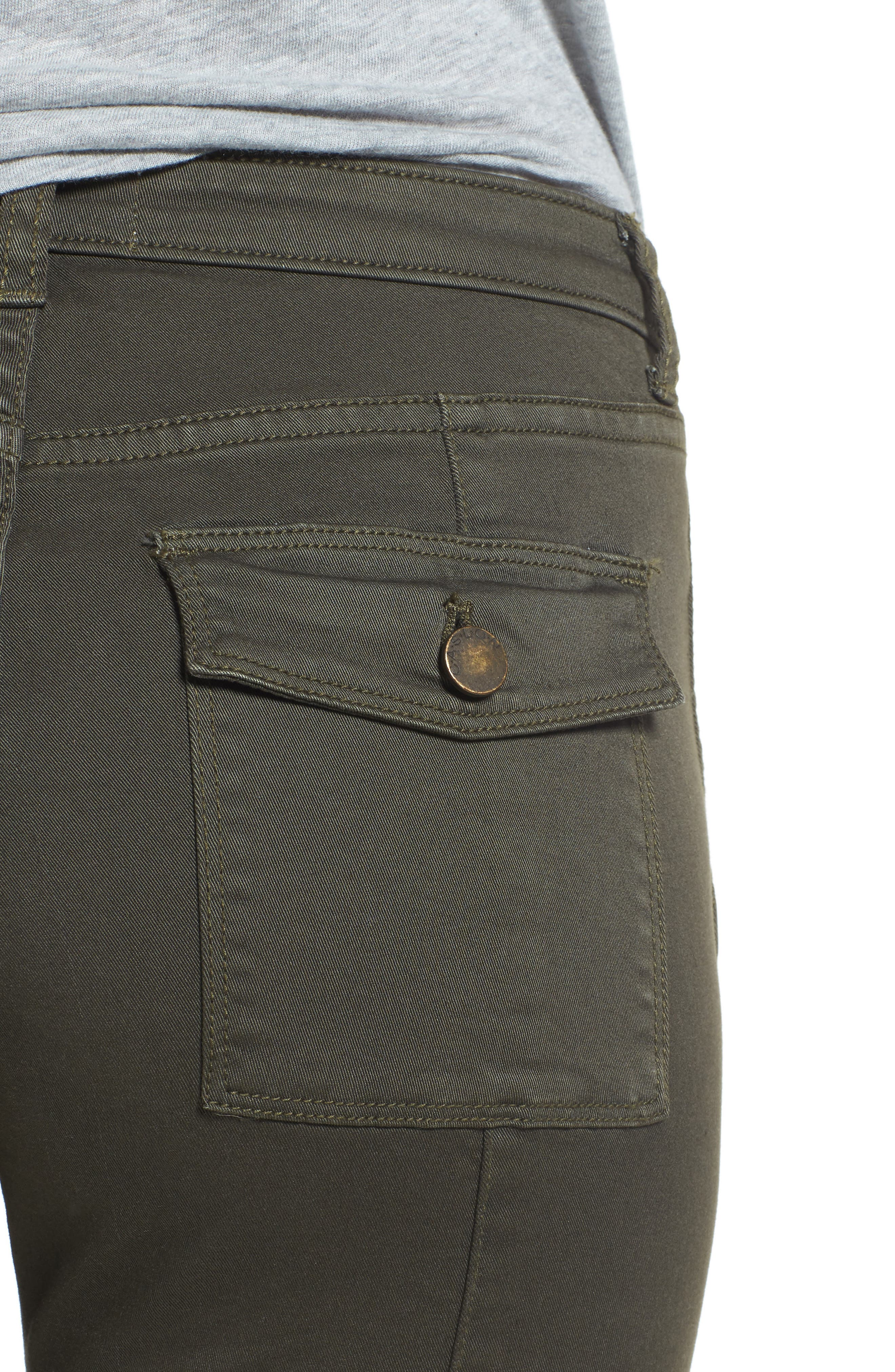 Alternate Image 4  - Caslon® Skinny Cargo Pants (Regular & Petite)