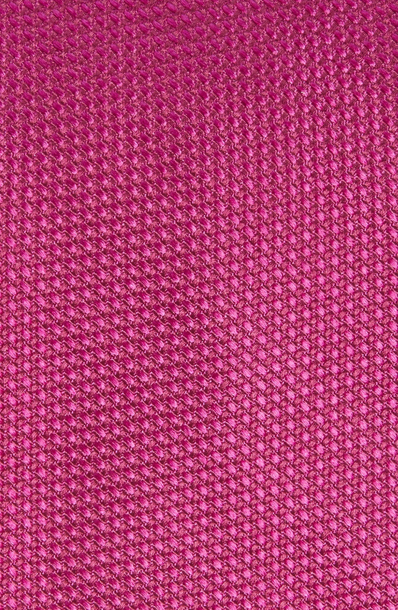 Solid Silk Tie,                             Alternate thumbnail 2, color,                             Fuchsia