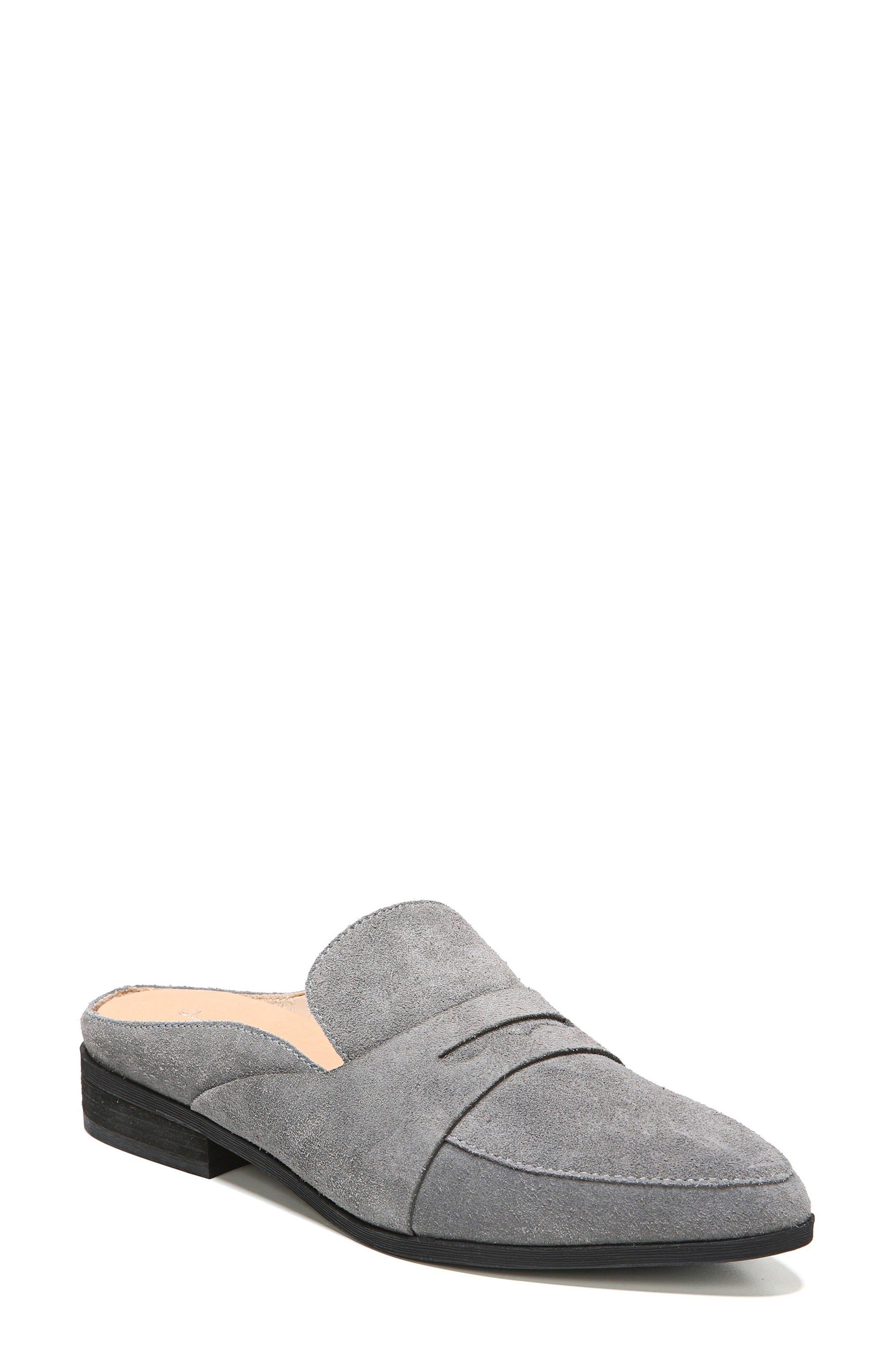 Eden Mule,                         Main,                         color, Grey Suede