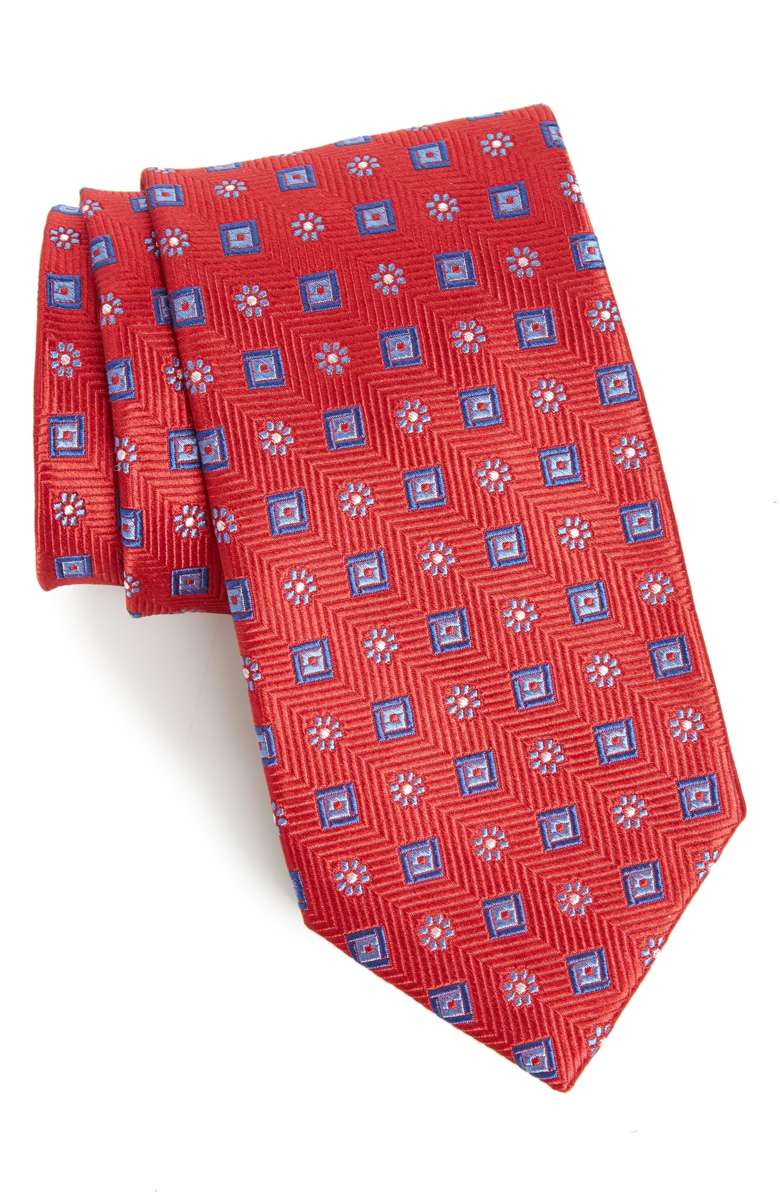 Nordstrom Men's Shop Medallion Silk Tie (X-Long)