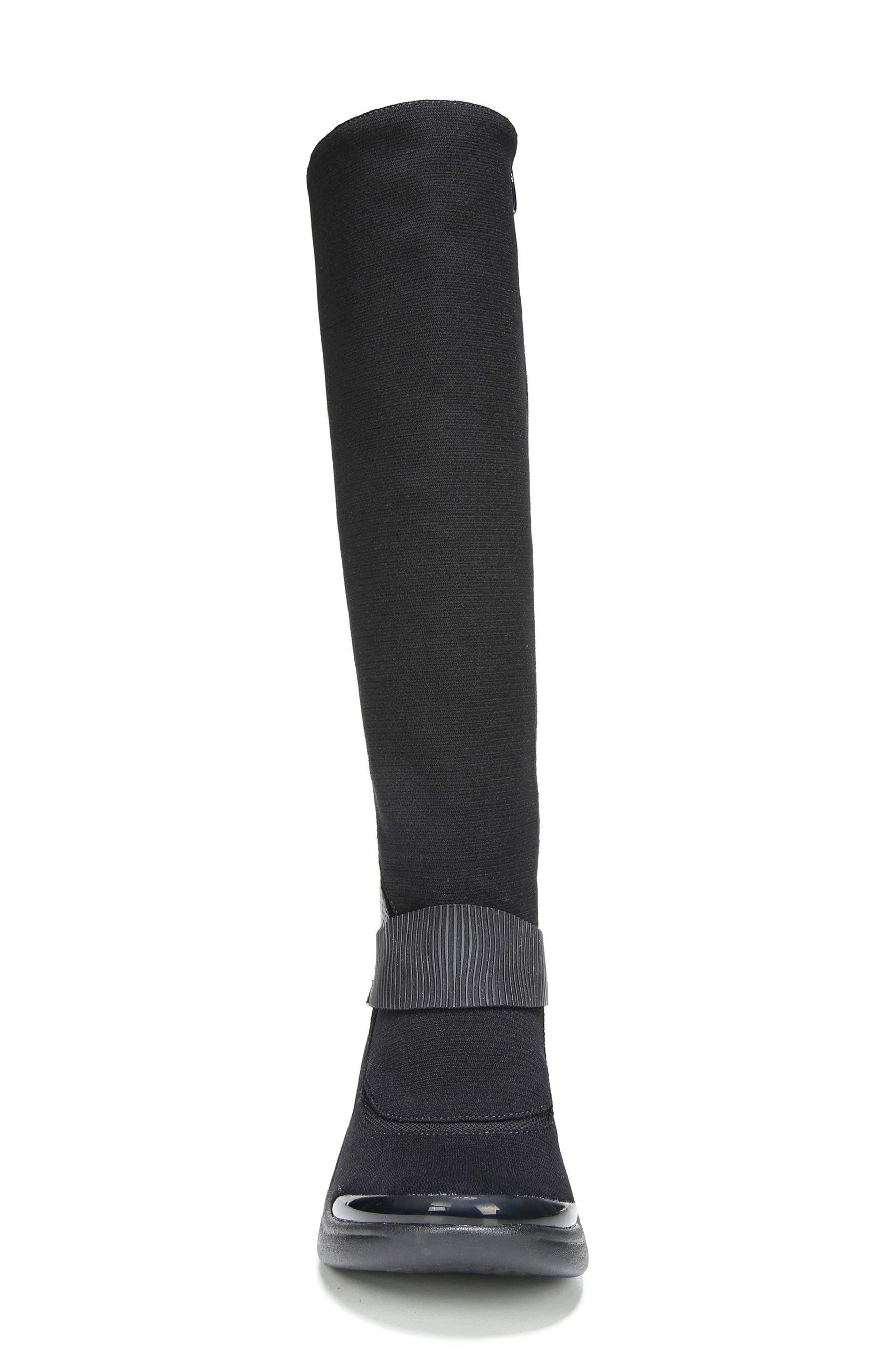 Enchanted Boot,                             Alternate thumbnail 4, color,                             Black Fabric
