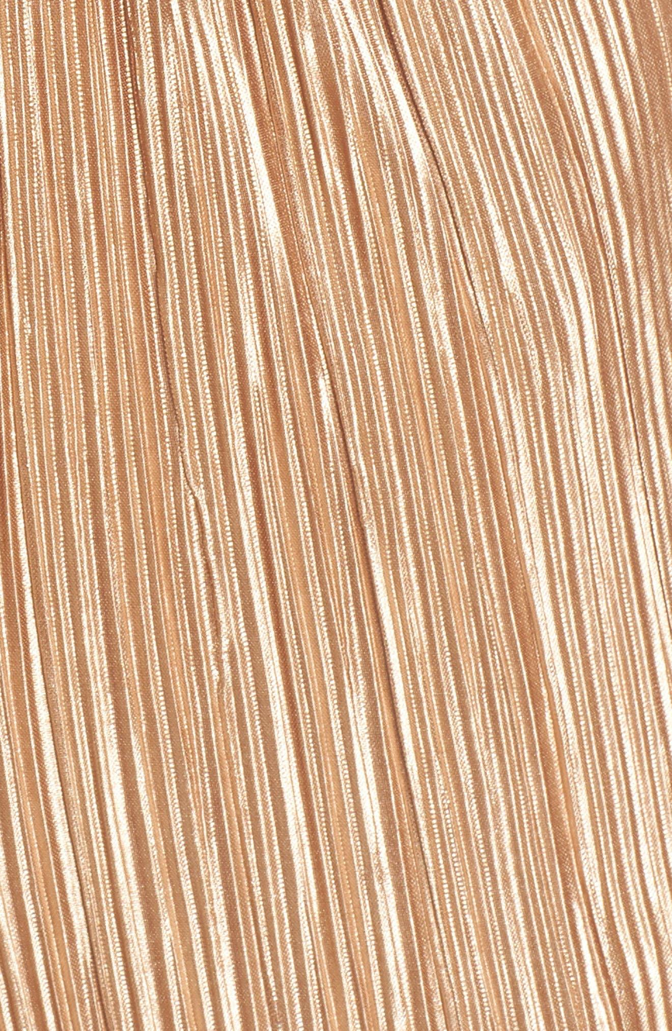 Alternate Image 5  - Mimi Chica Plissé One-Shoulder Romper