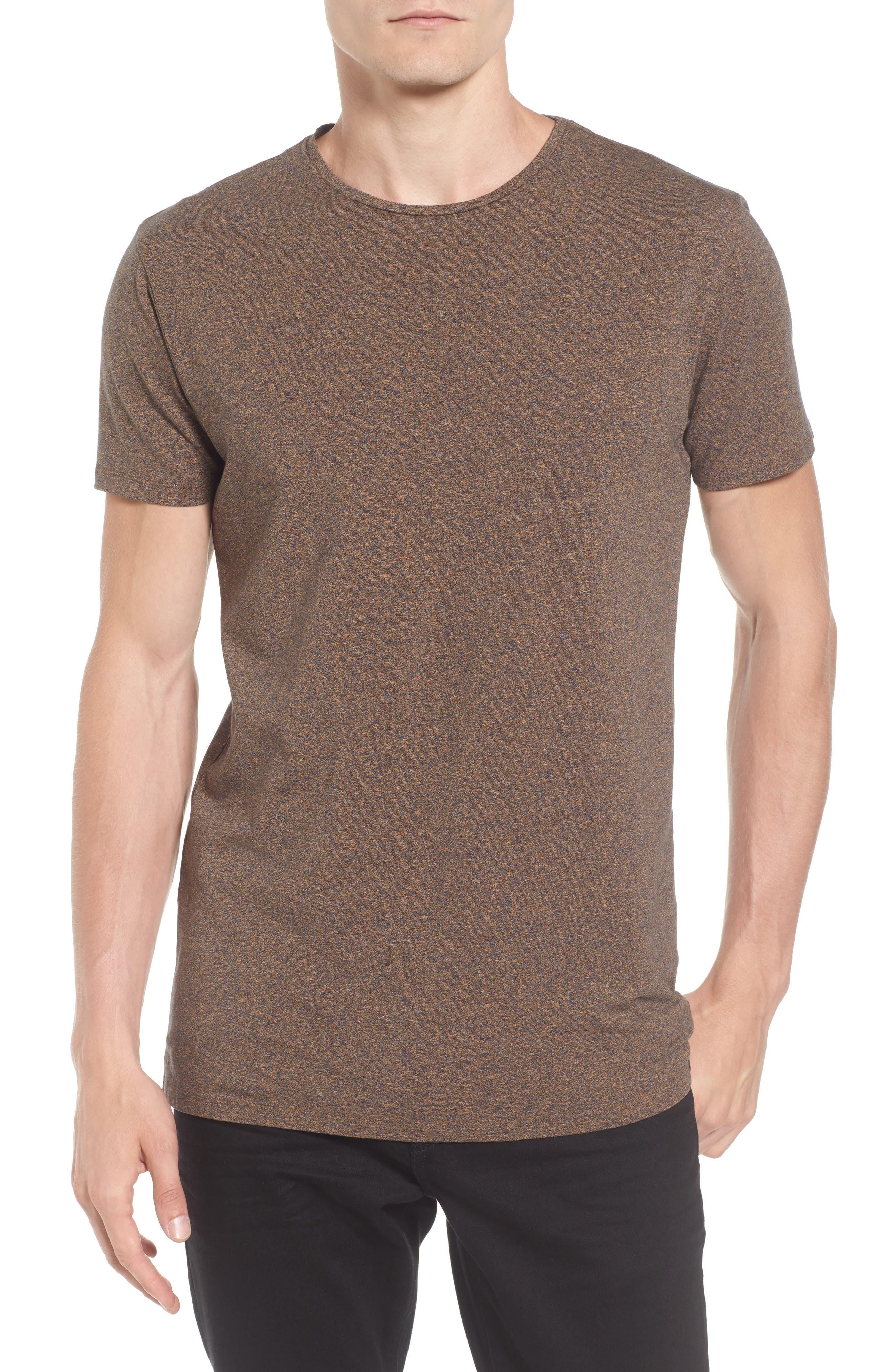 Classic Crewneck T-Shirt,                         Main,                         color, Deck Yellow Melange