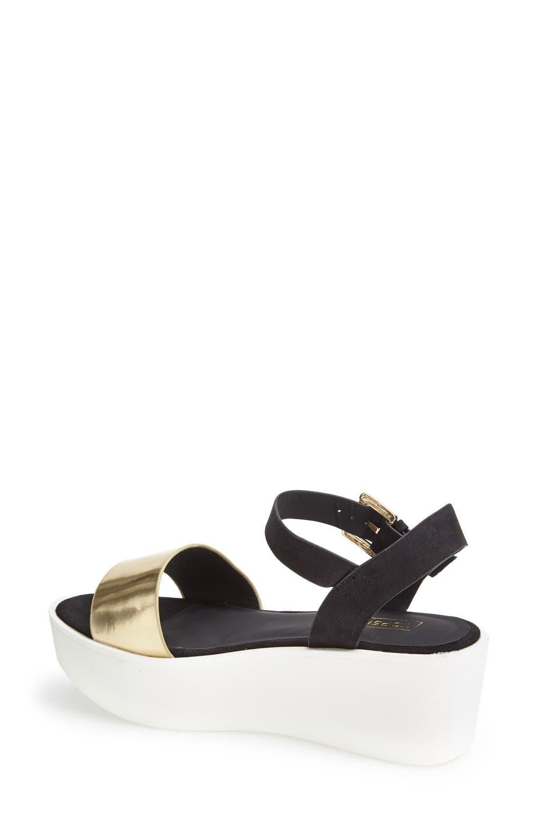 Alternate Image 2  - Topshop 'Honey' Ankle Strap Wedge Platform Sandal (Women)