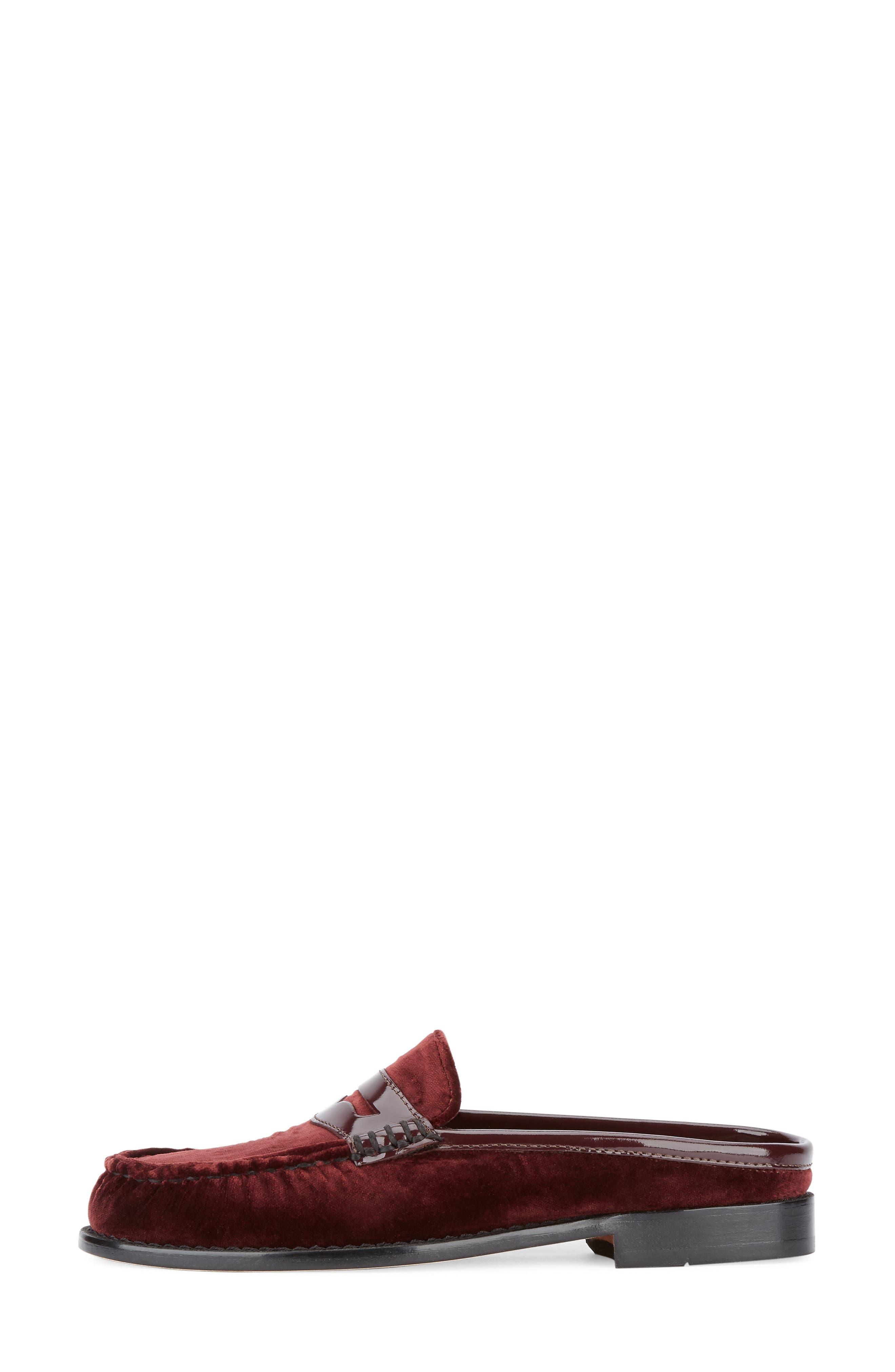 Wynn Loafer Mule,                             Alternate thumbnail 5, color,                             Wine Velvet
