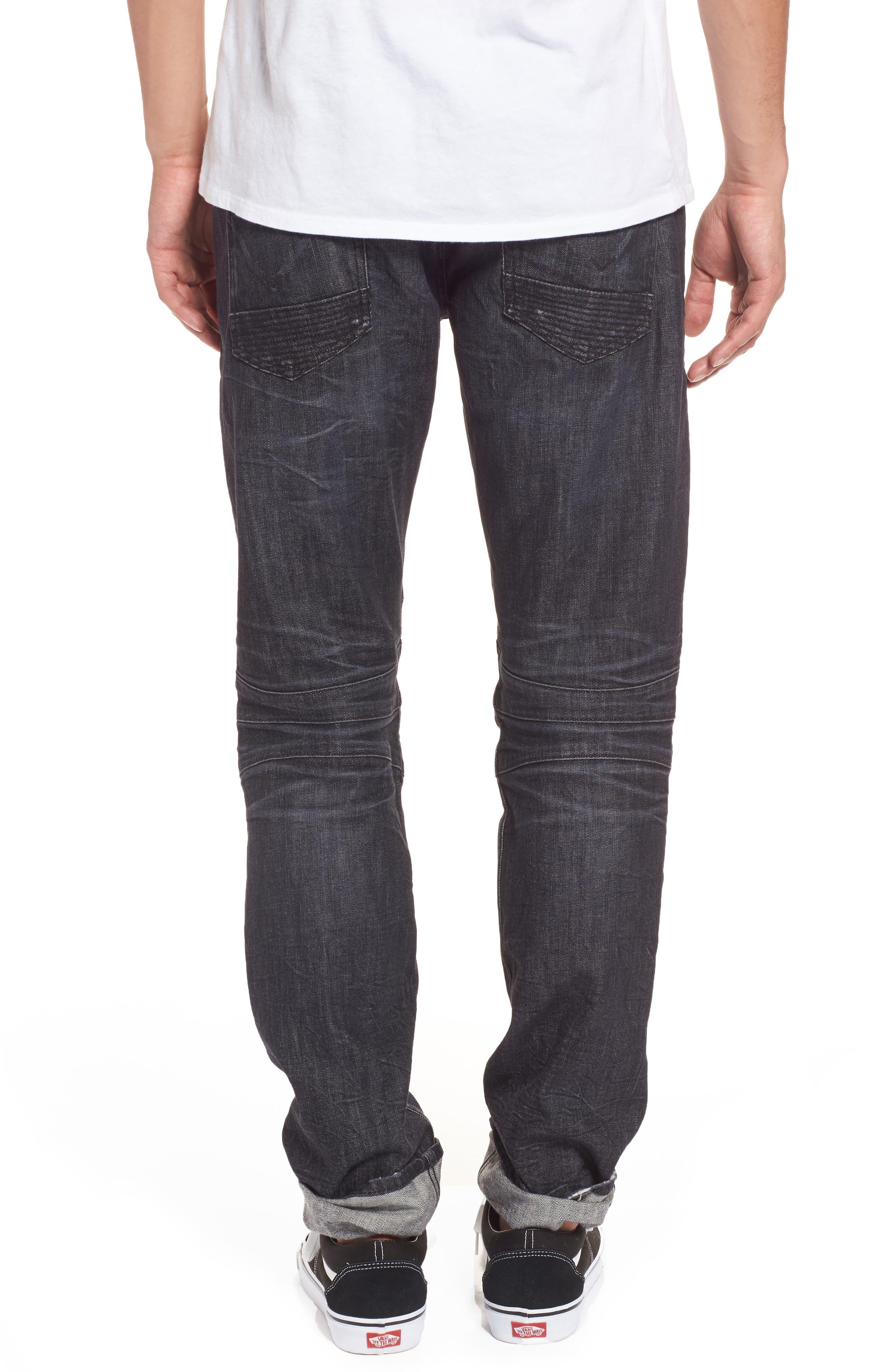 Alternate Image 2  - Hudson Jeans Blinder Biker Moto Skinny Fit Jeans (Damage)