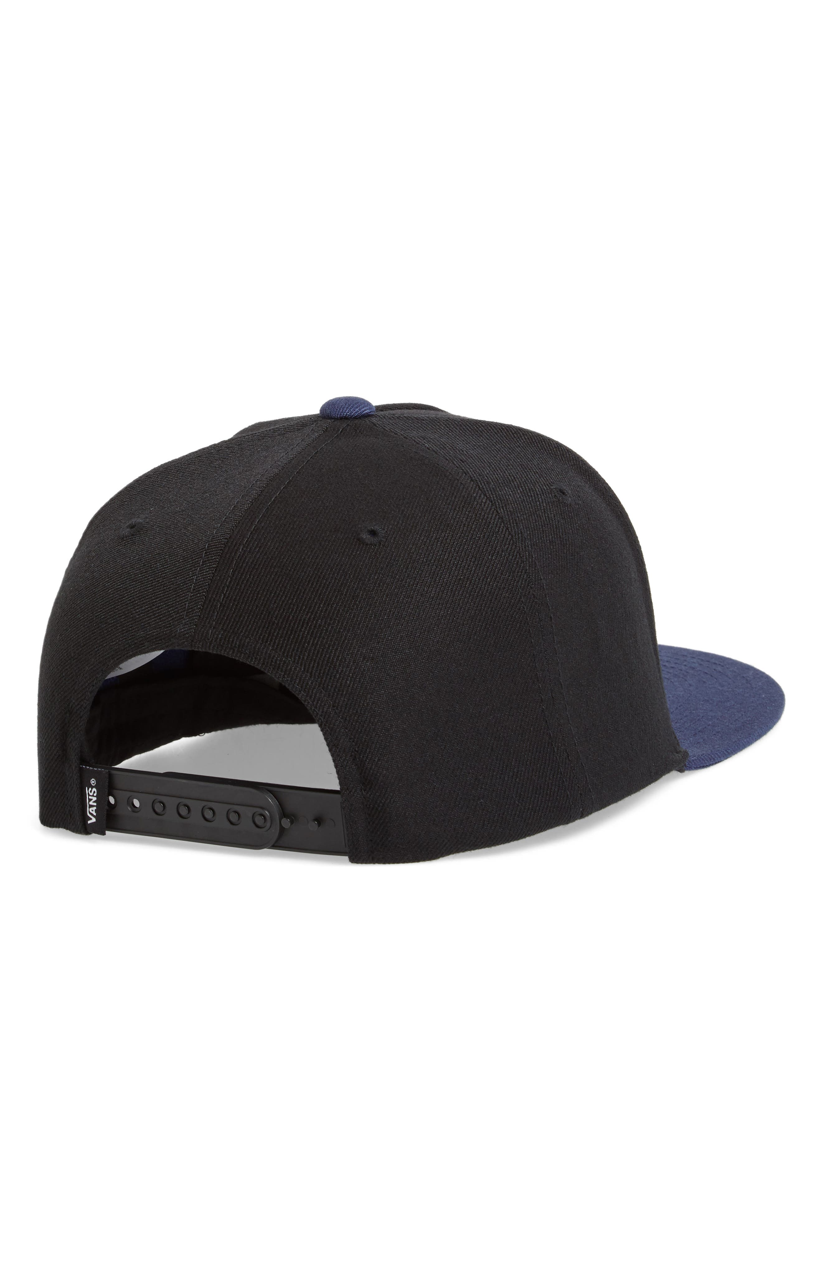 Mini Patch II Snapback Cap,                             Alternate thumbnail 2, color,                             Black/ Dress Blues
