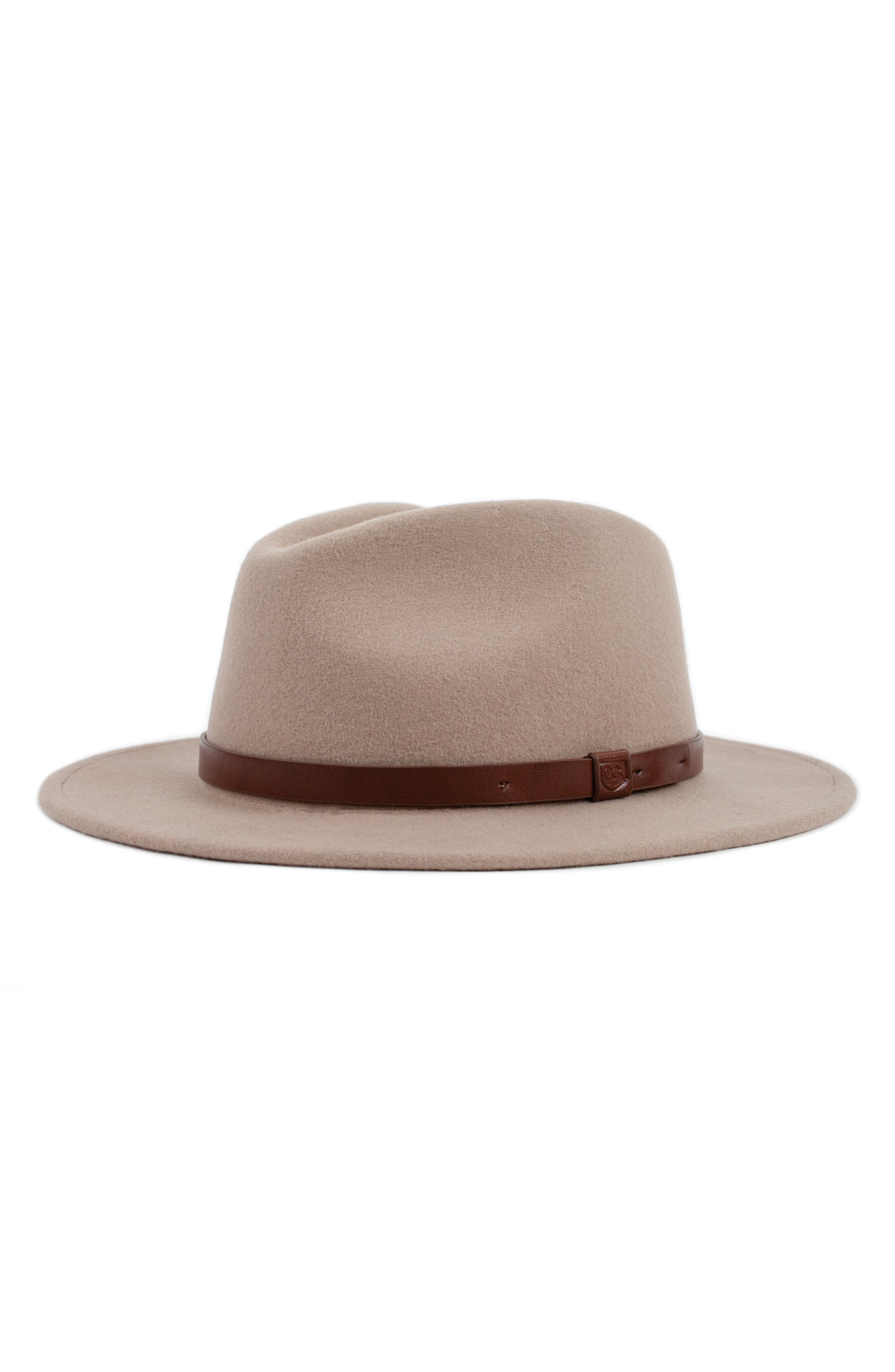 'Messer' Wool Fedora,                         Main,                         color, Fawn