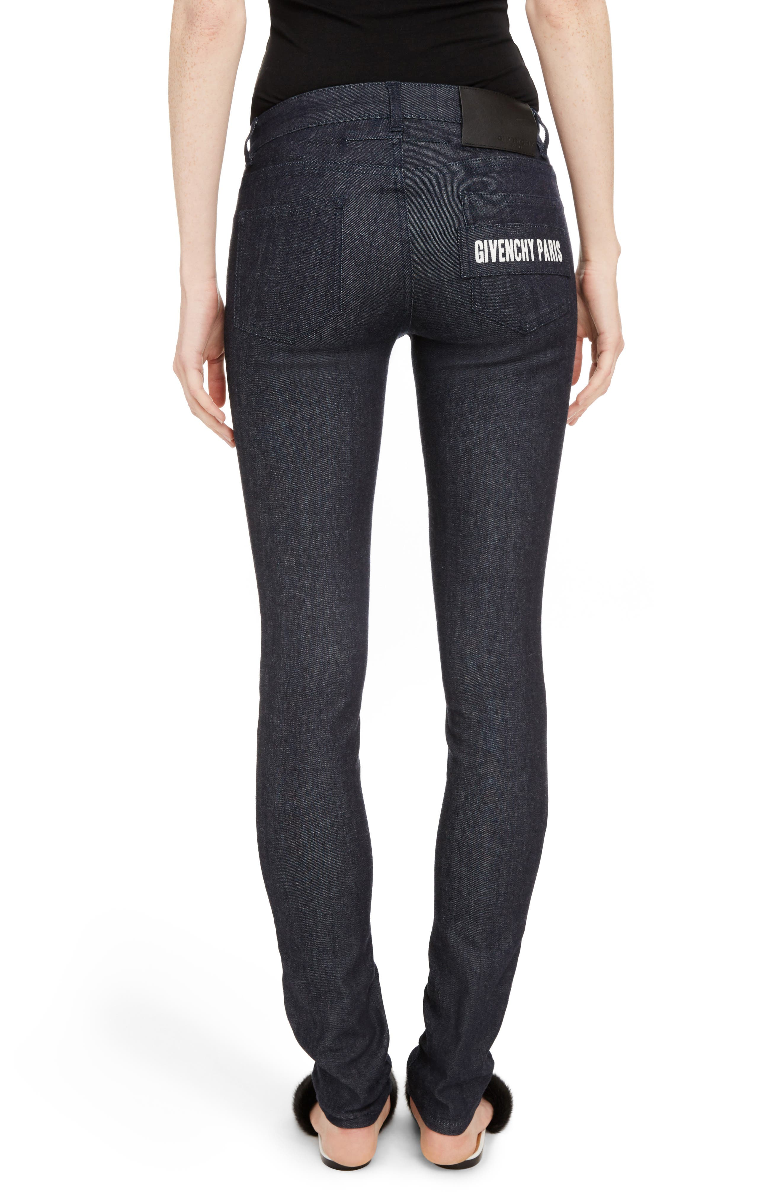 Alternate Image 2  - Givenchy Tab Logo Skinny Jeans