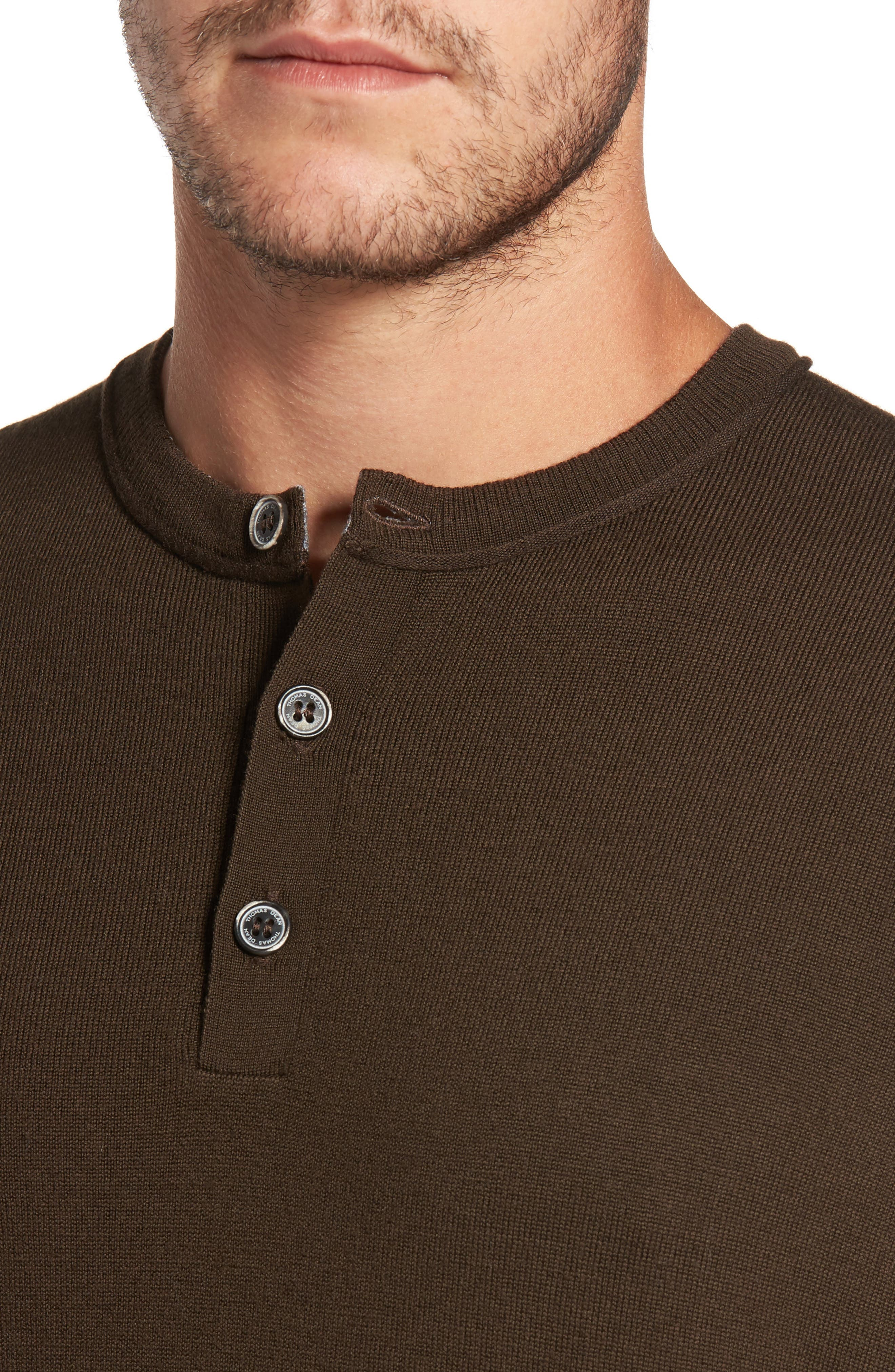 Alternate Image 4  - Thomas Dean Merino Blend Henley