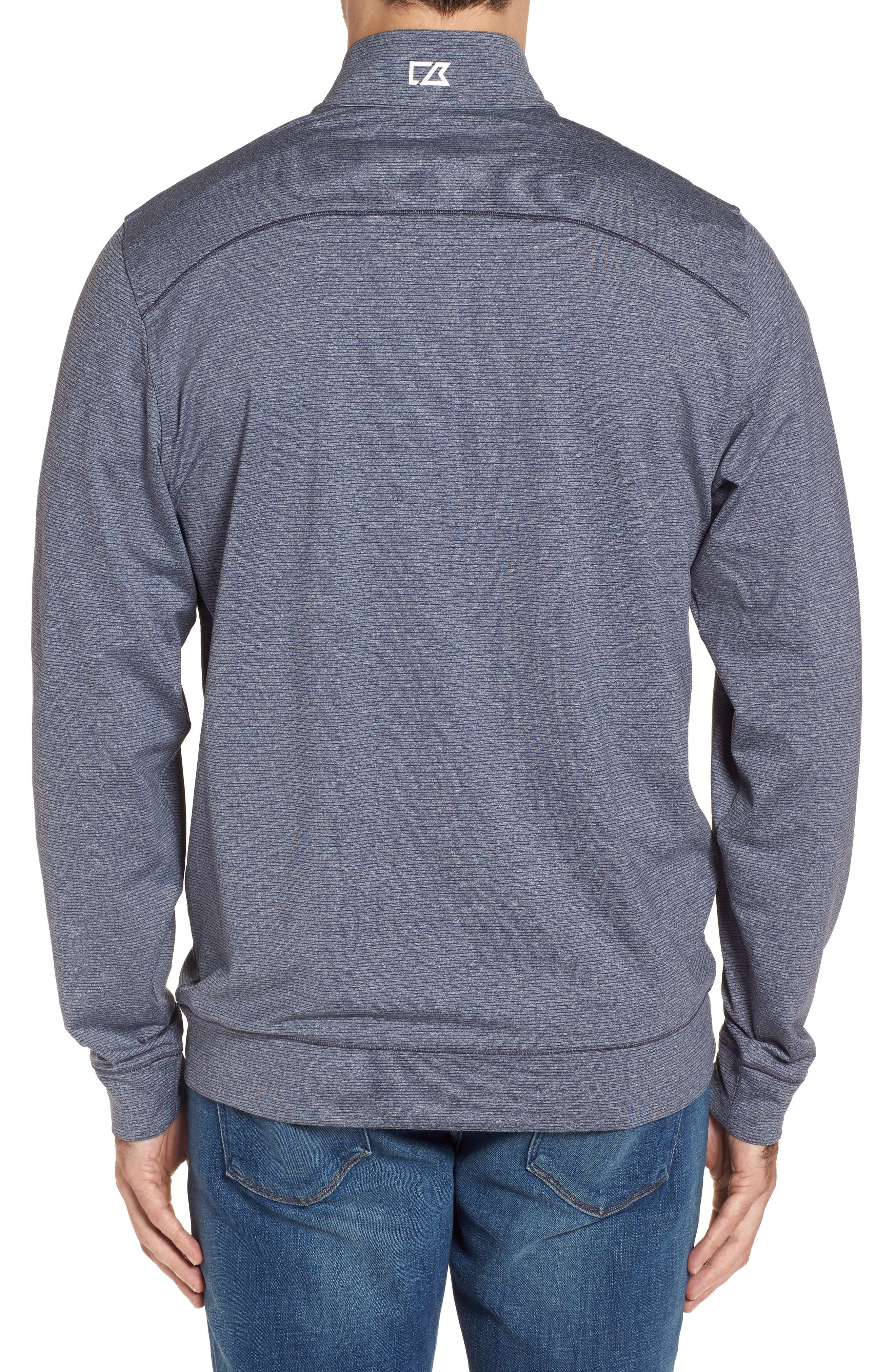 Seahawks Shoreline Quarter Zip Pullover,                             Alternate thumbnail 2, color,                             Liberty Navy Heather