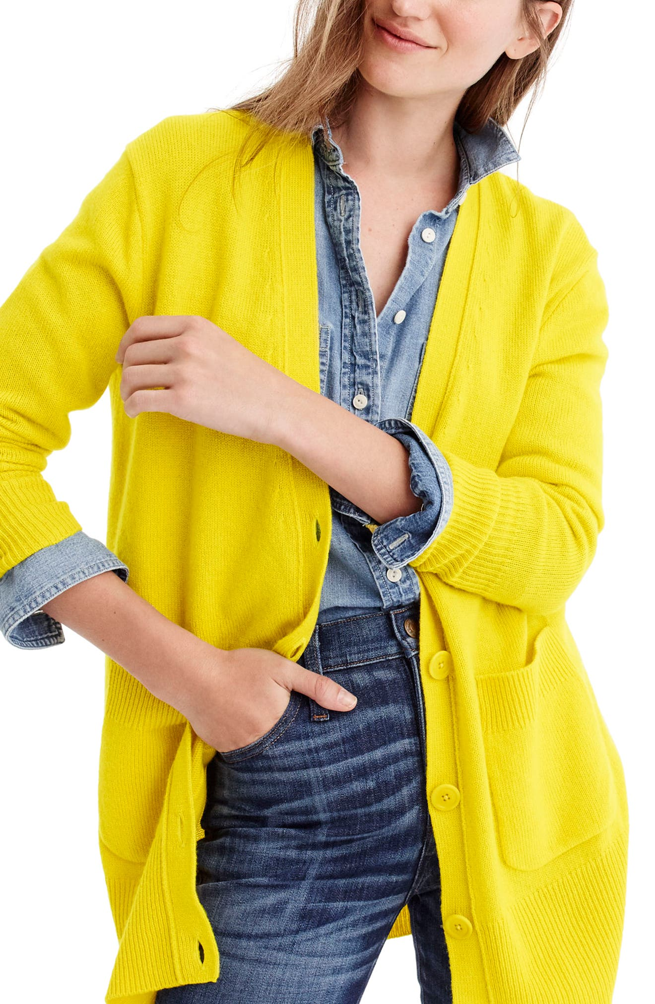 Alternate Image 2  - J.Crew Oversize Wool Blend Cardigan
