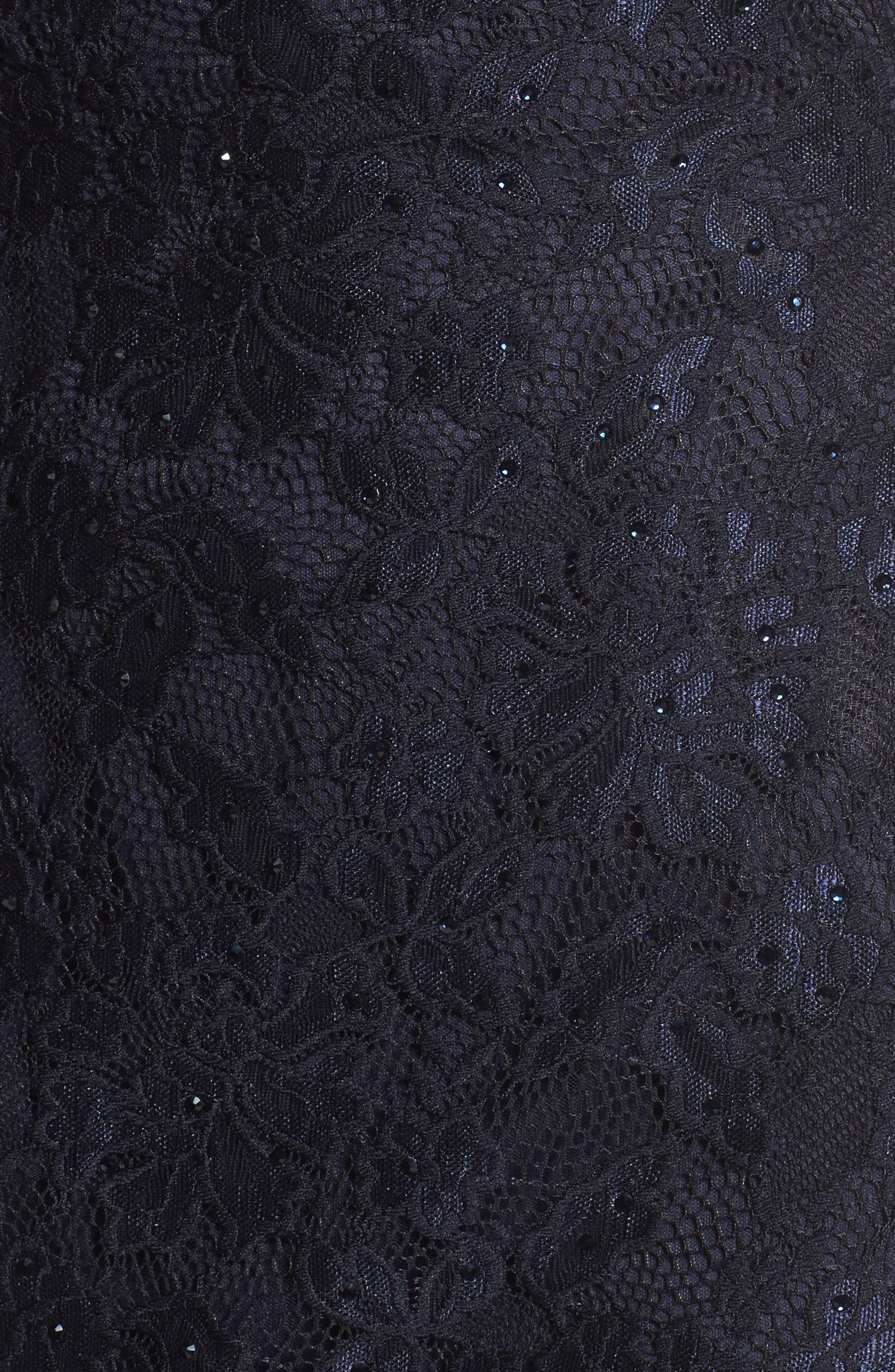 Alternate Image 5  - La Femme Sweetheart Lace Sheath Dress