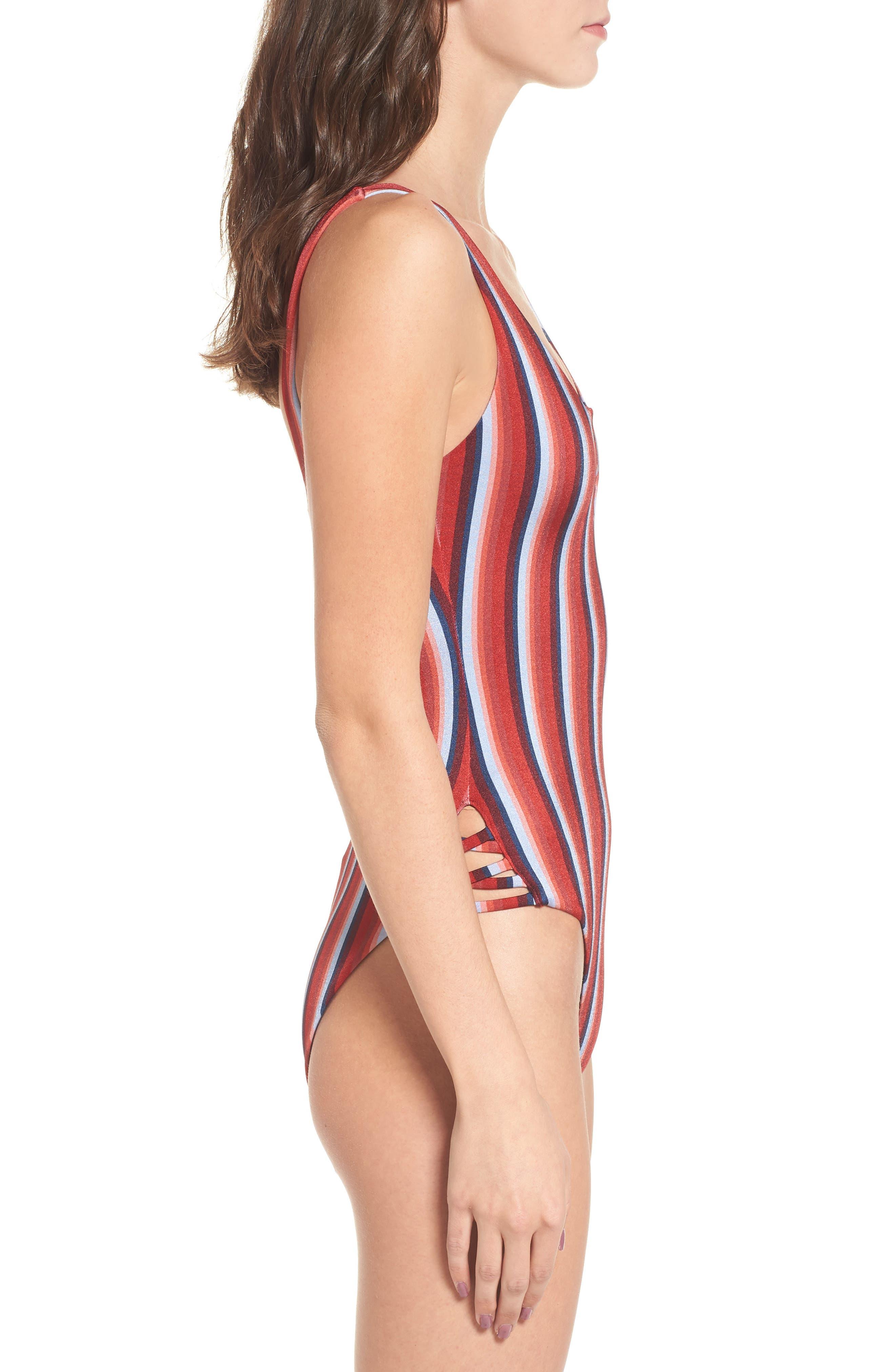 Alternate Image 3  - RVCA Tidal One-Piece Swimsuit