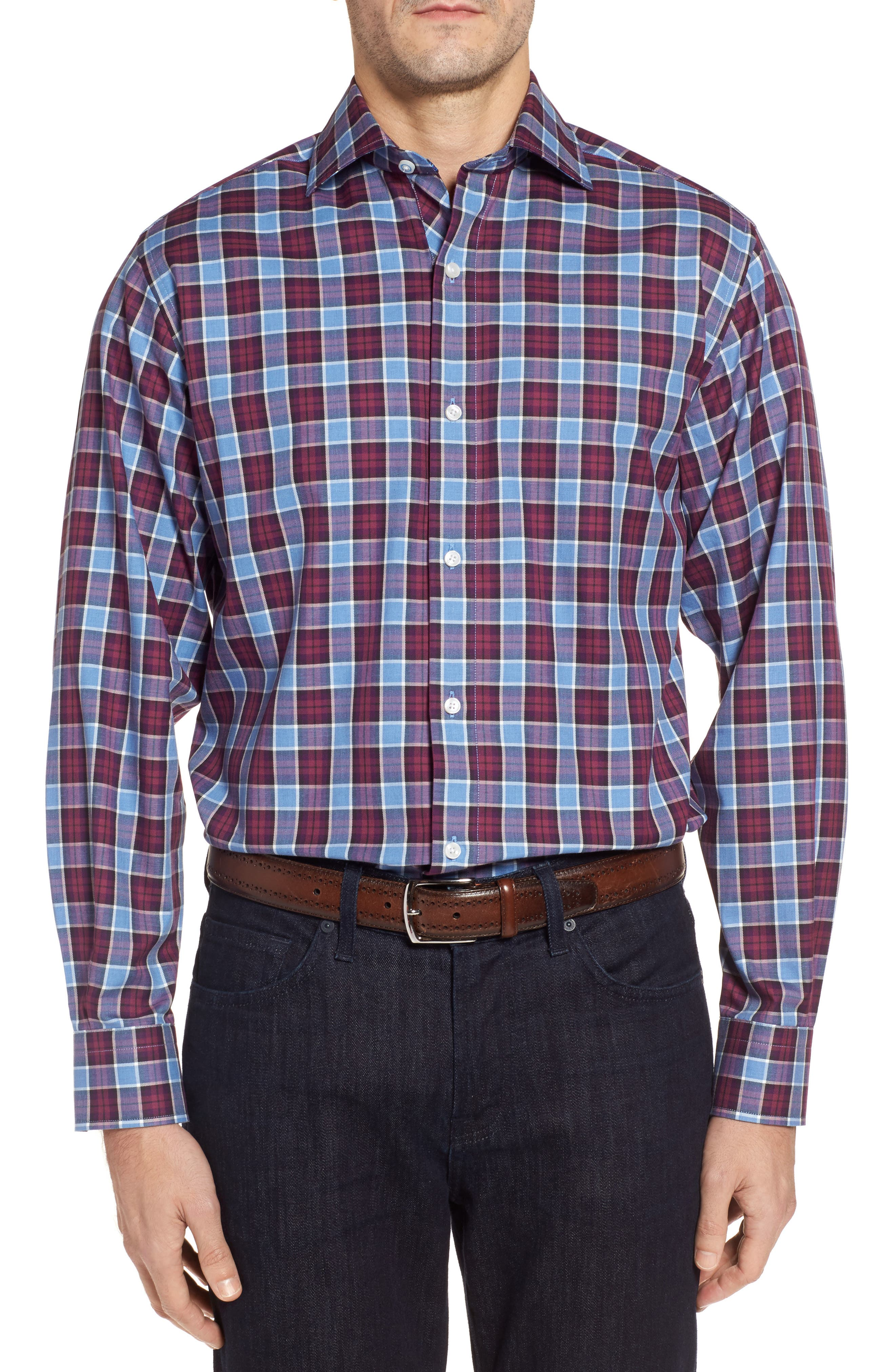 Alternate Image 1 Selected - TailorByrd Campti Regular Fit Plaid Sport Shirt