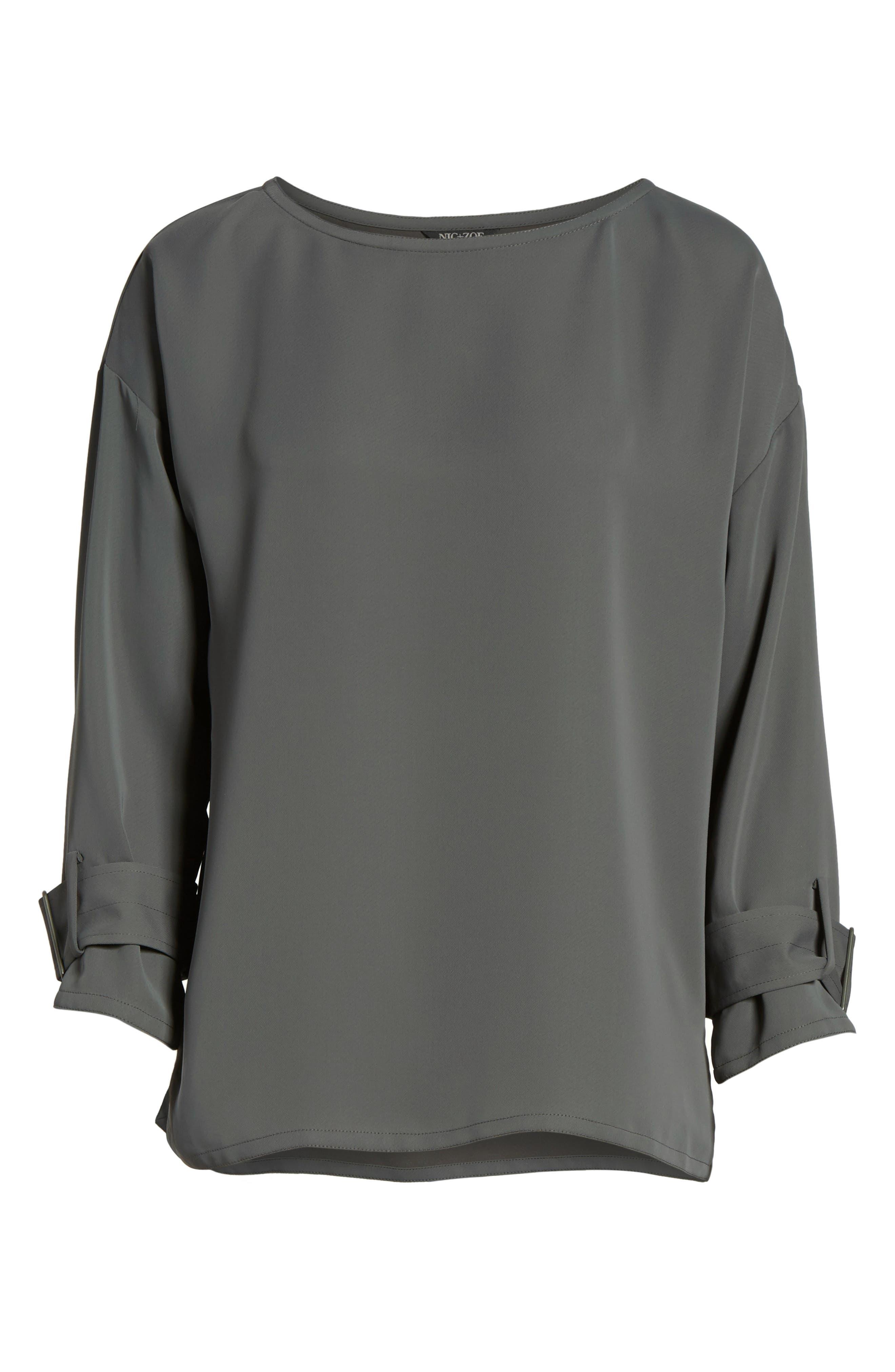 Main Image - NIC+ZOE Buckle Sleeve Top (Regular & Petite)