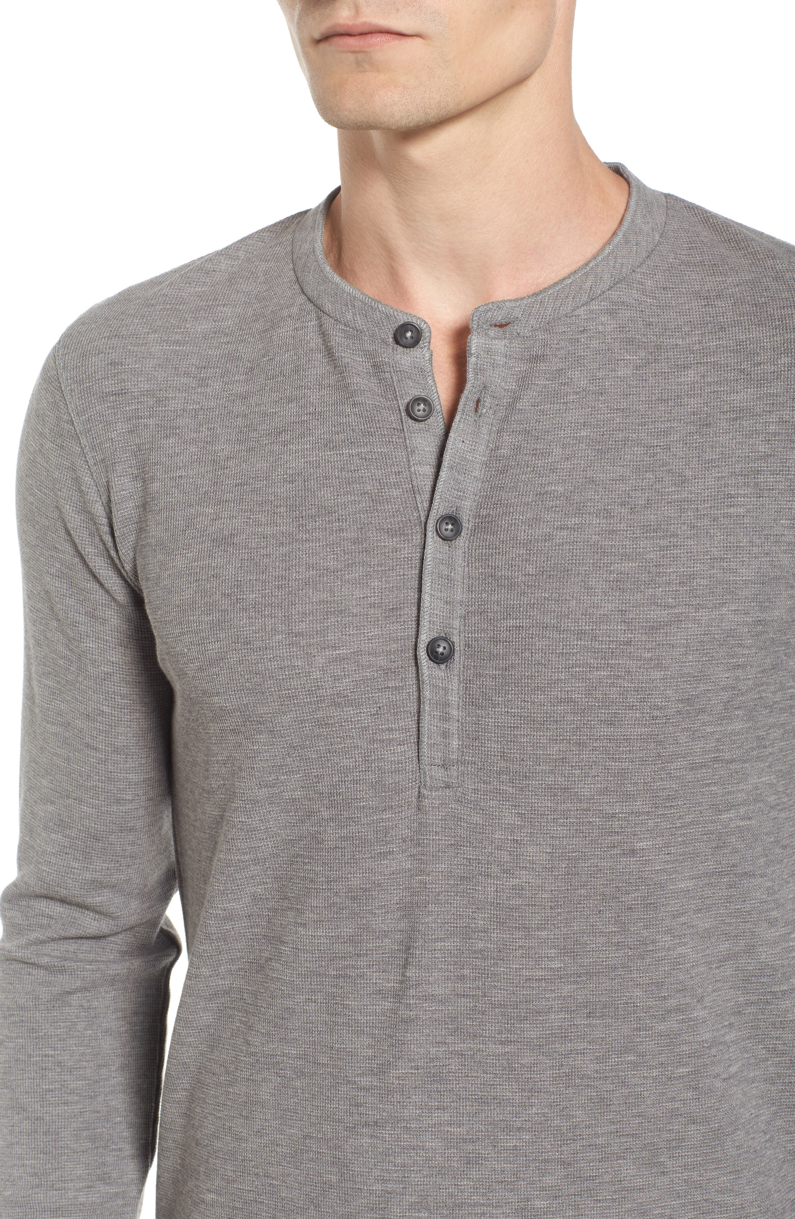 Topsider Thermal Henley,                             Alternate thumbnail 5, color,                             Light Pastel/ Grey