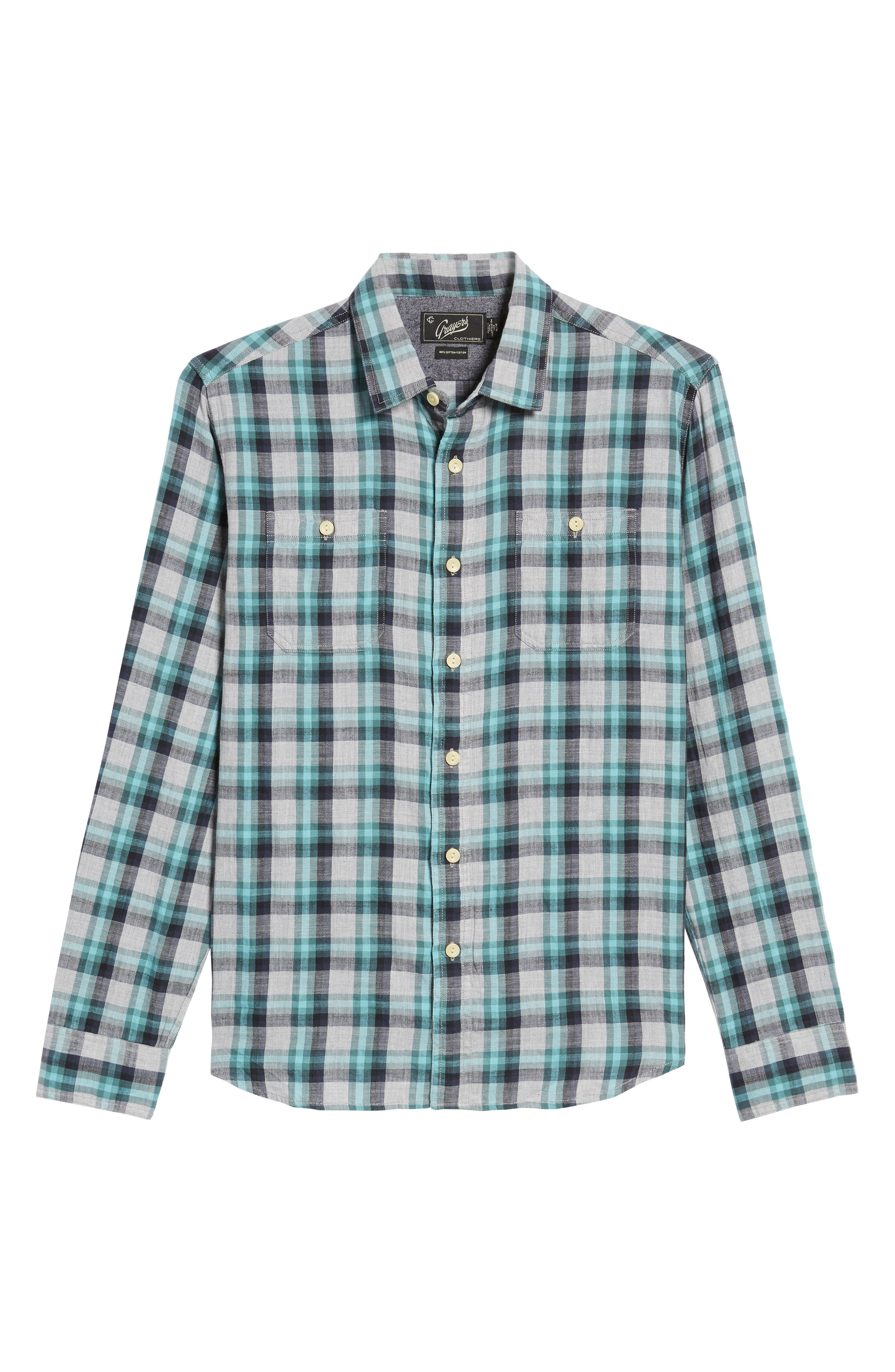 Alternate Image 6  - Grayers Trevor Modern Fit Slub Twill Sport Shirt