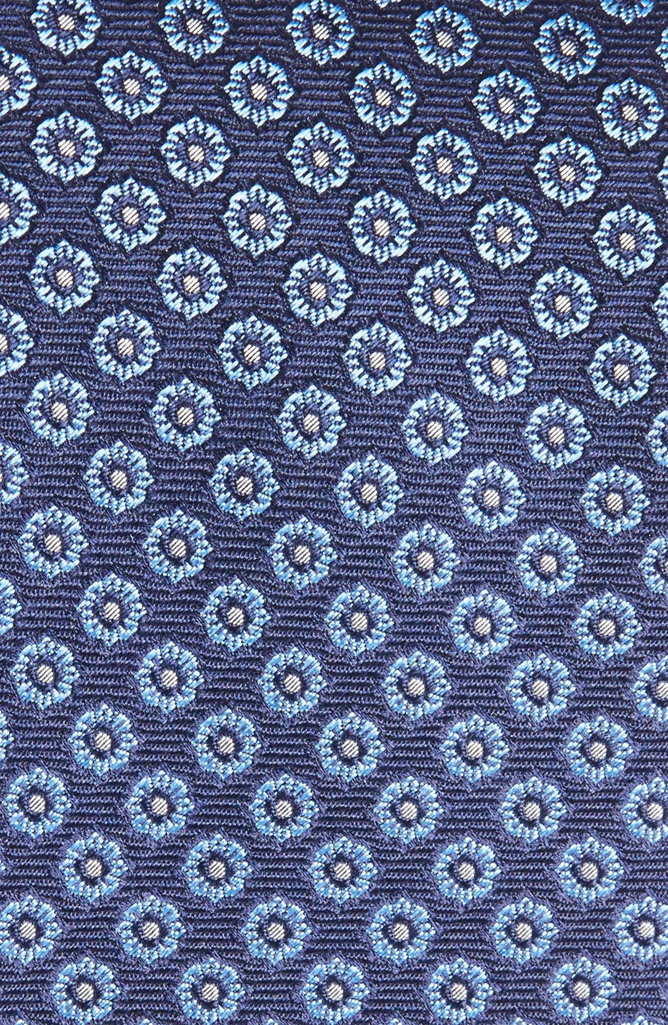 Floral Medallion Silk Tie,                             Alternate thumbnail 2, color,                             Navy