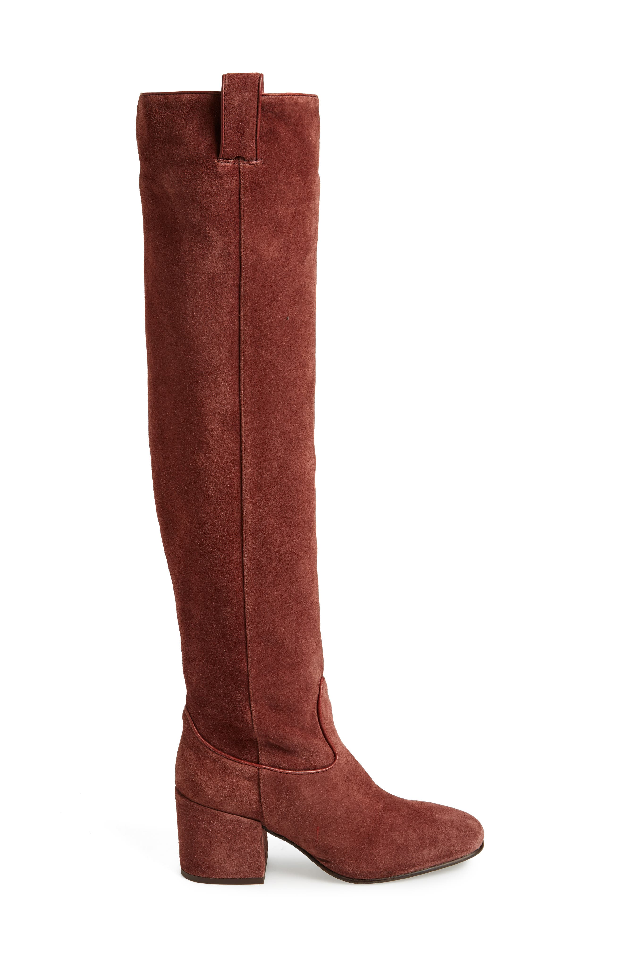 Delia Over the Knee Boot,                             Alternate thumbnail 3, color,                             Mogano