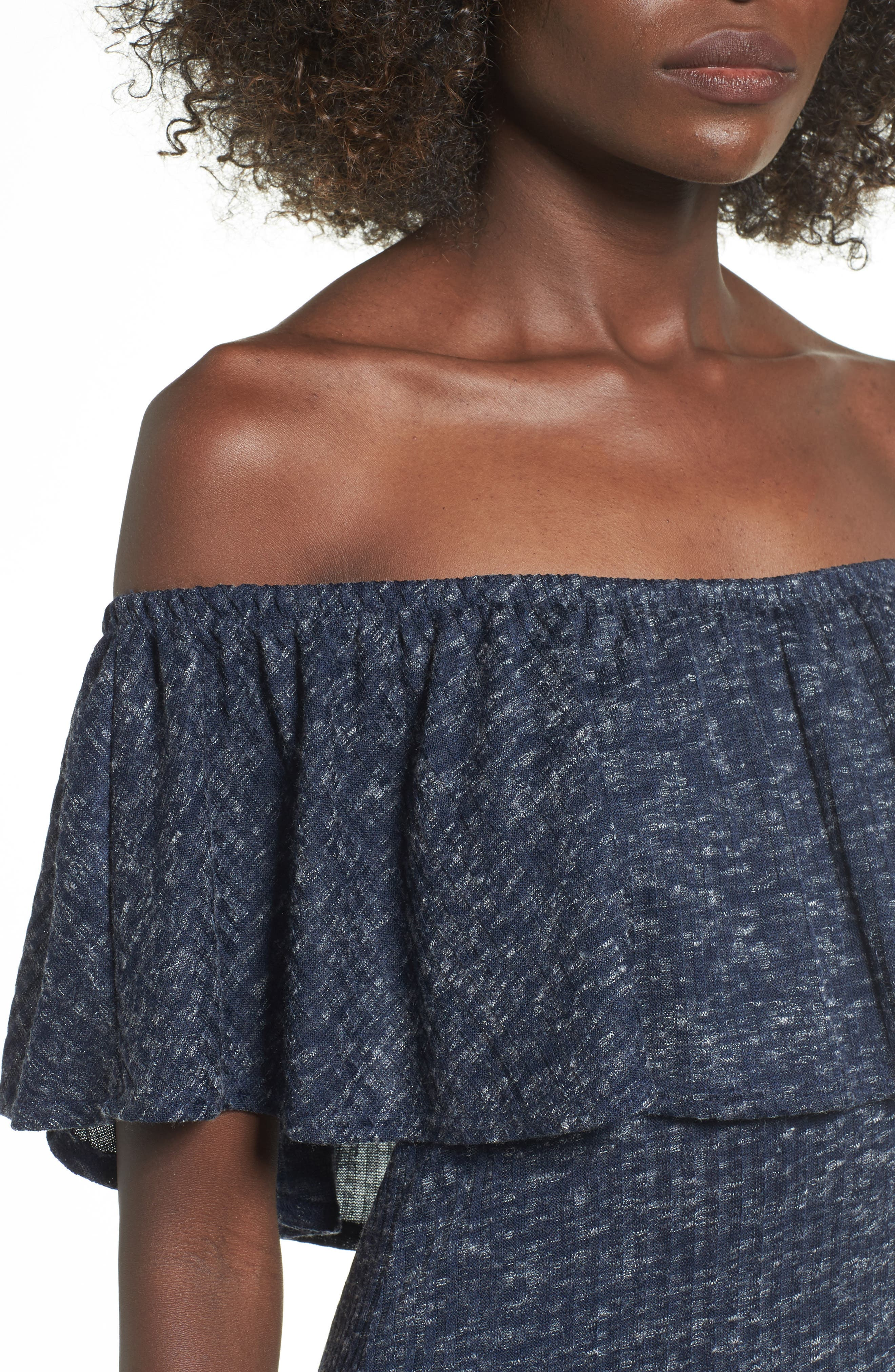 Alternate Image 4  - Mimi Chica Off the Shoulder Ruffle Knit Dress