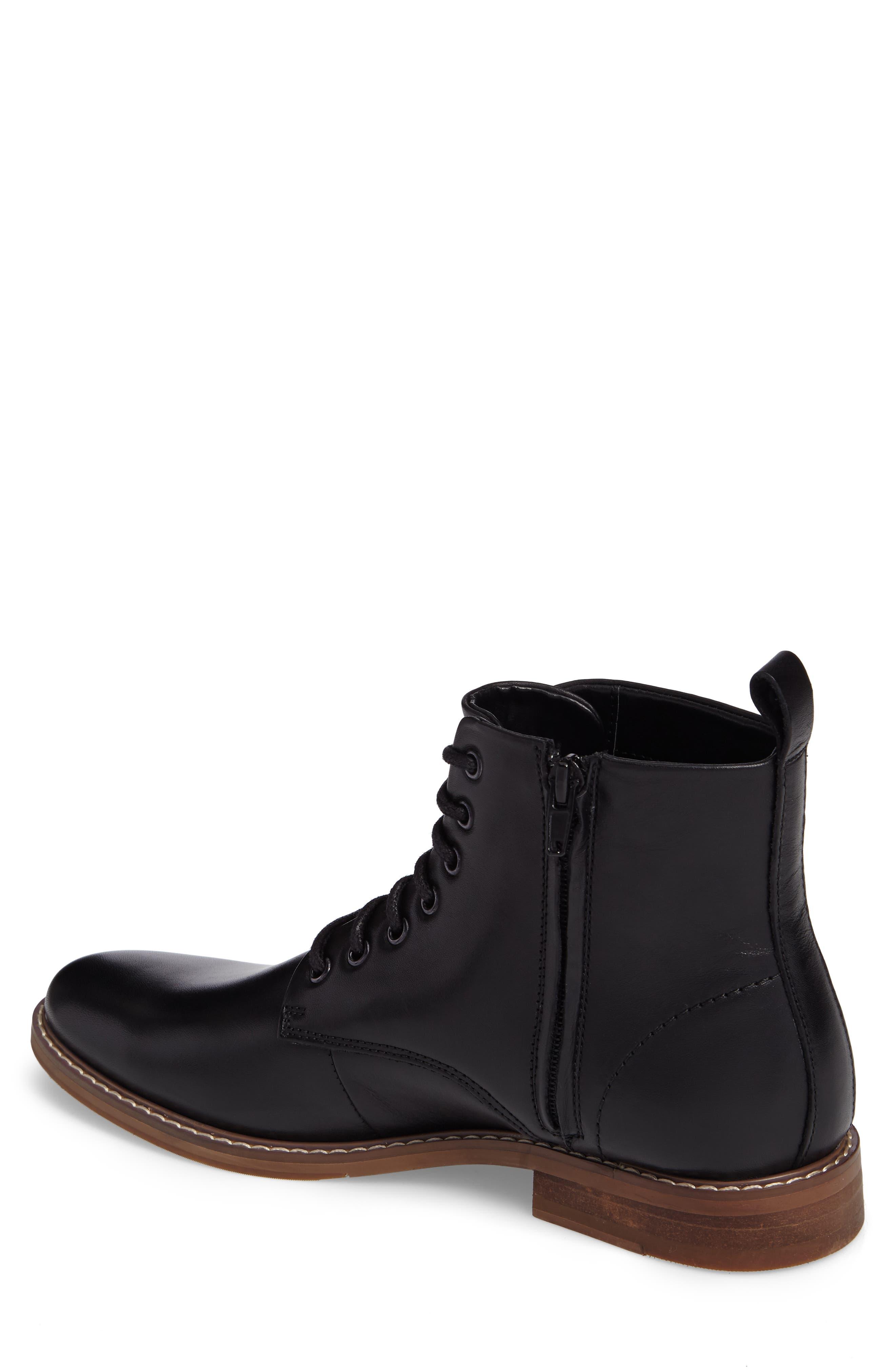 Albany Plain Toe Boot,                             Alternate thumbnail 2, color,                             Black Leather