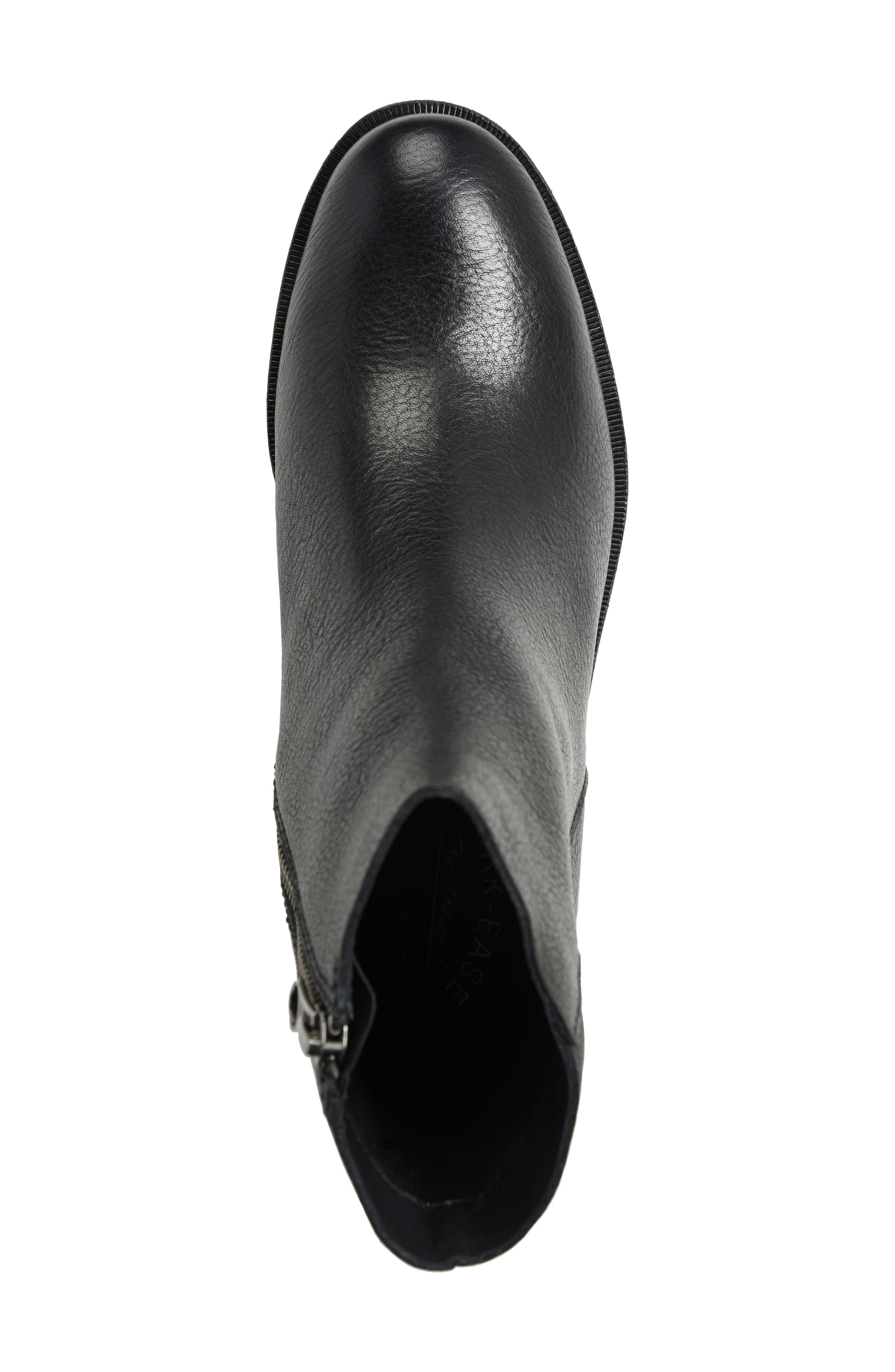 Mayten Bootie,                             Alternate thumbnail 5, color,                             Black Leather