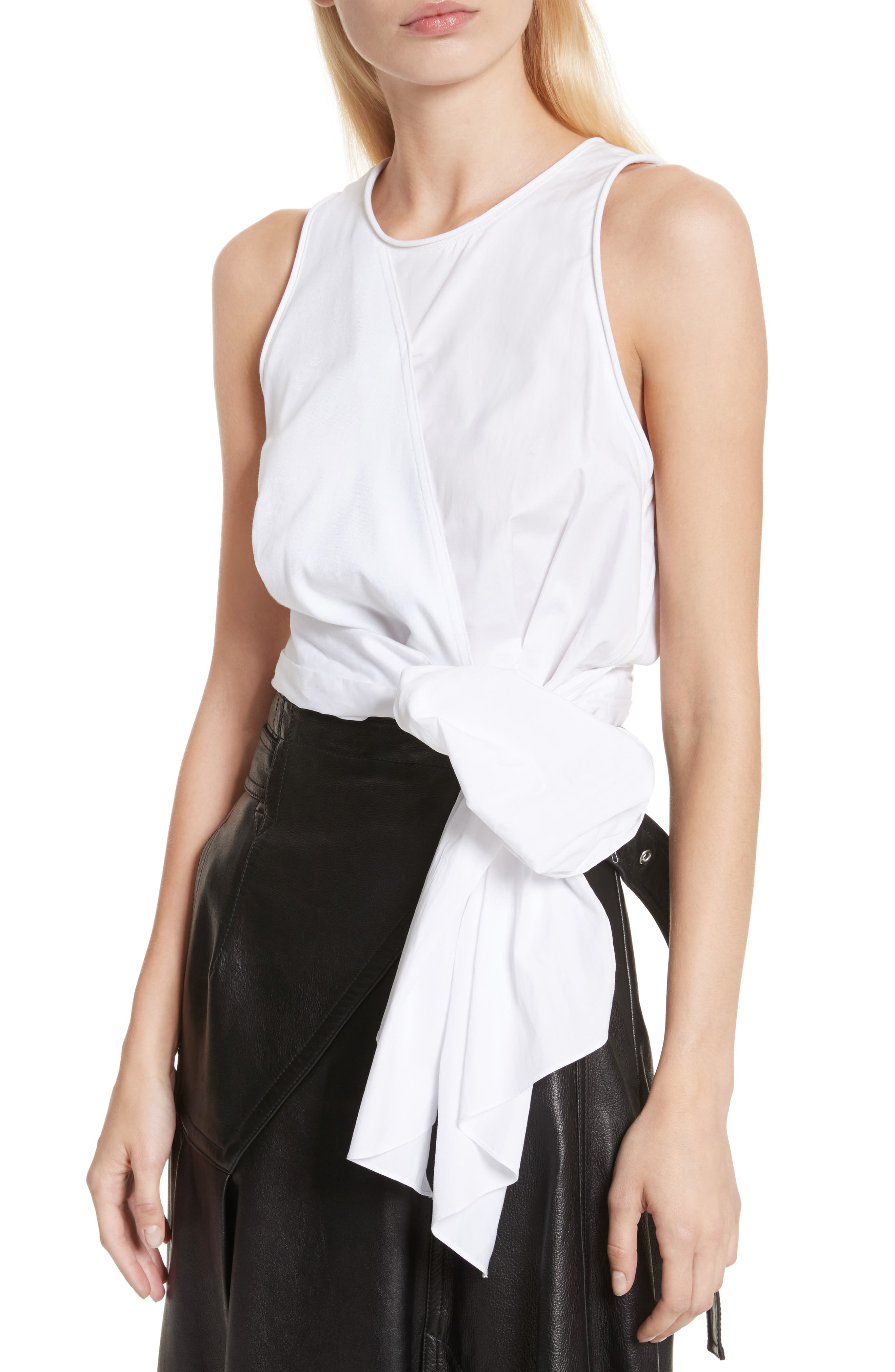 Twist Front Tank Top,                         Main,                         color, White