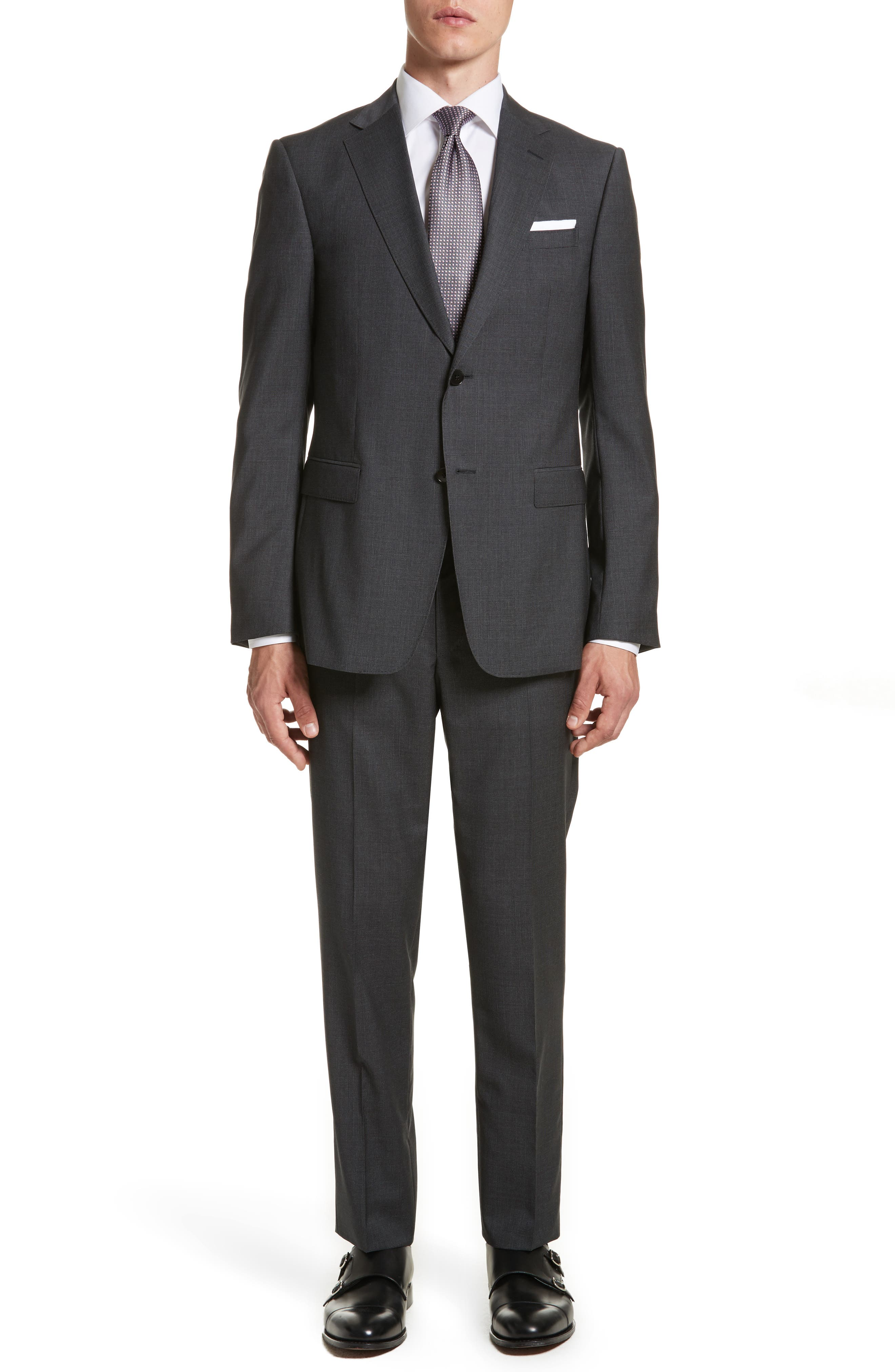 Main Image - Z Zegna Classic Fit Solid Wool Suit