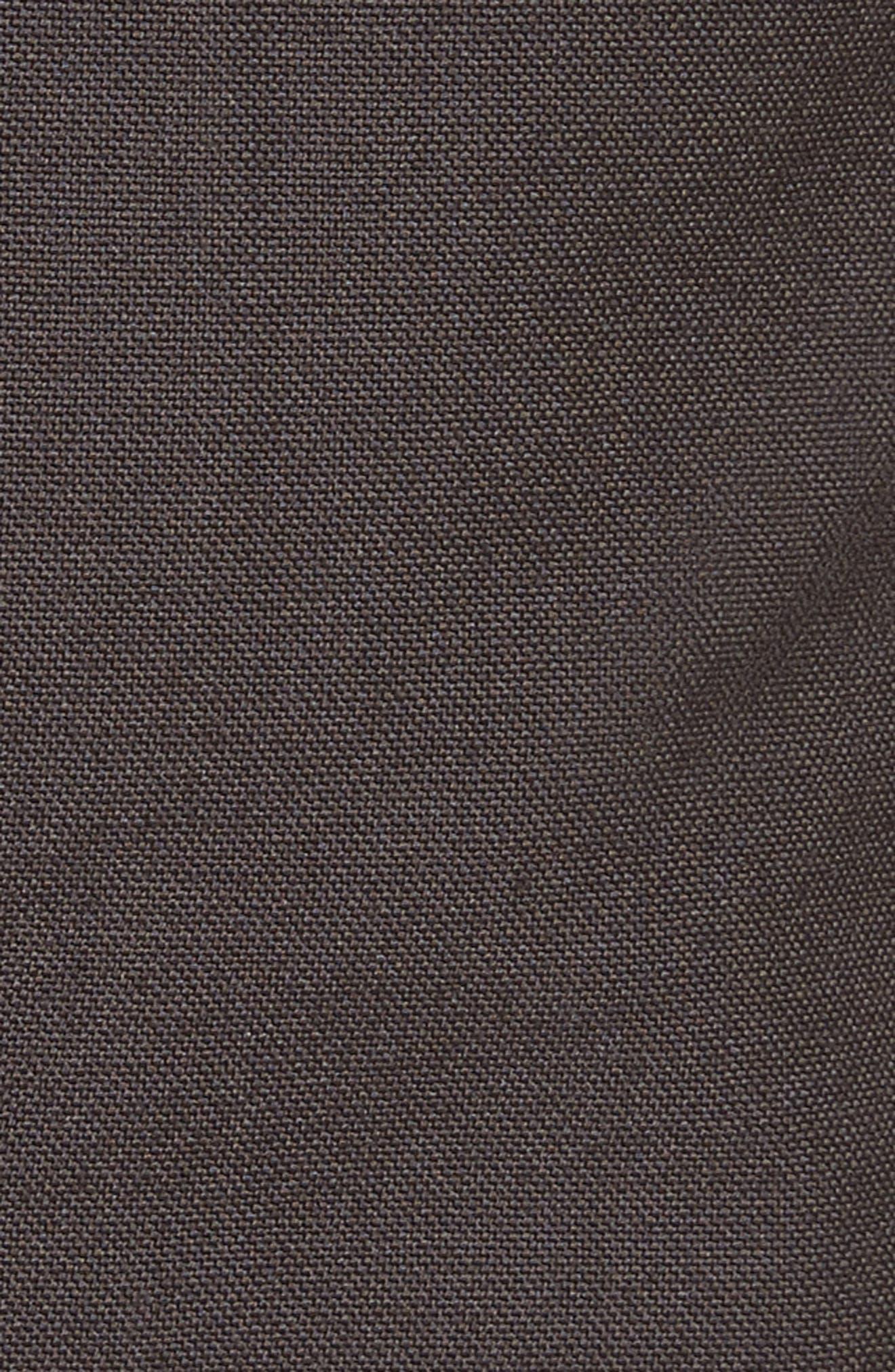 Cropped Drawstring Cargo Pants,                             Alternate thumbnail 5, color,                             Brown