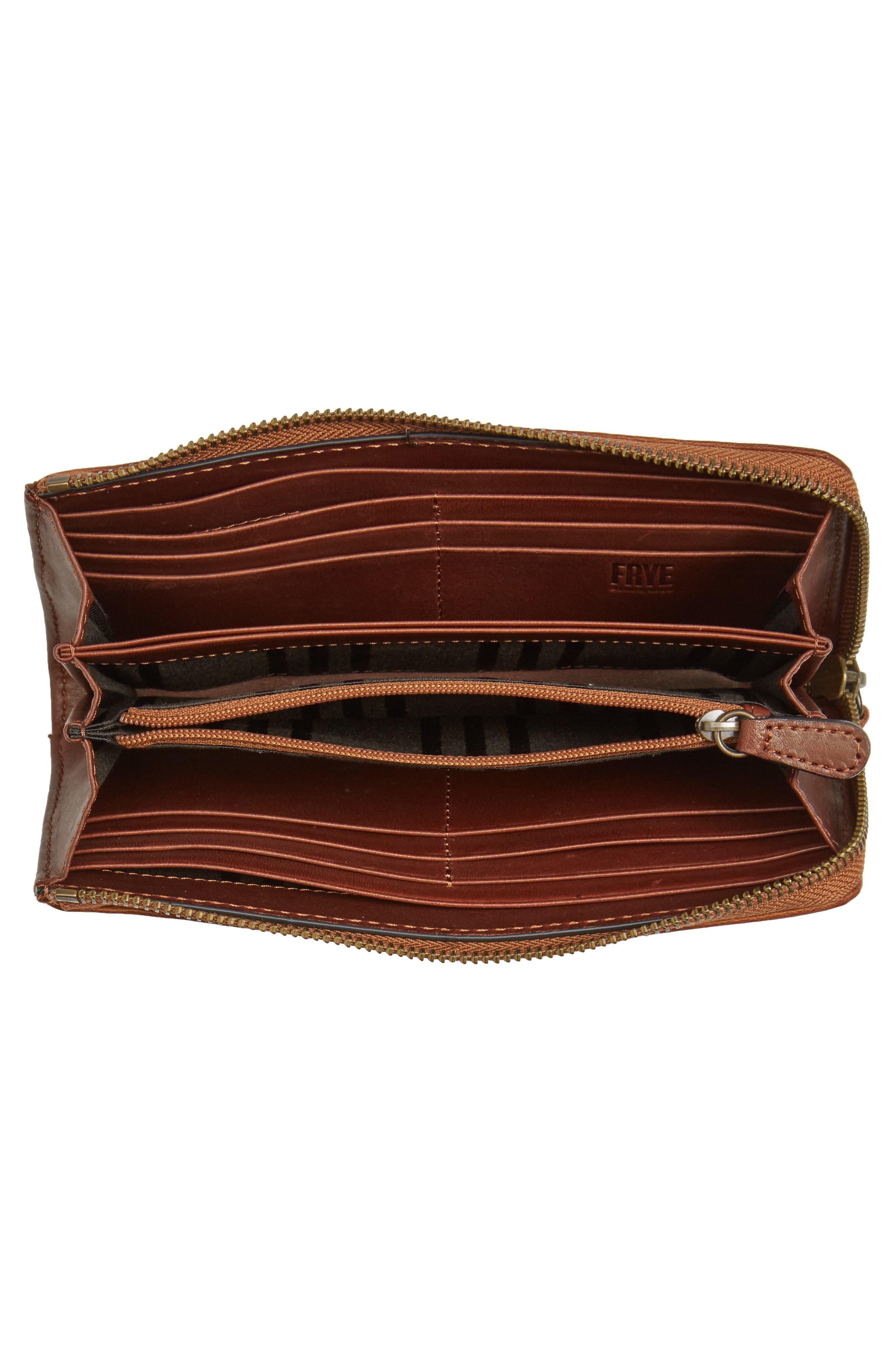 Melissa Leather Wallet,                             Alternate thumbnail 2, color,                             Cognac
