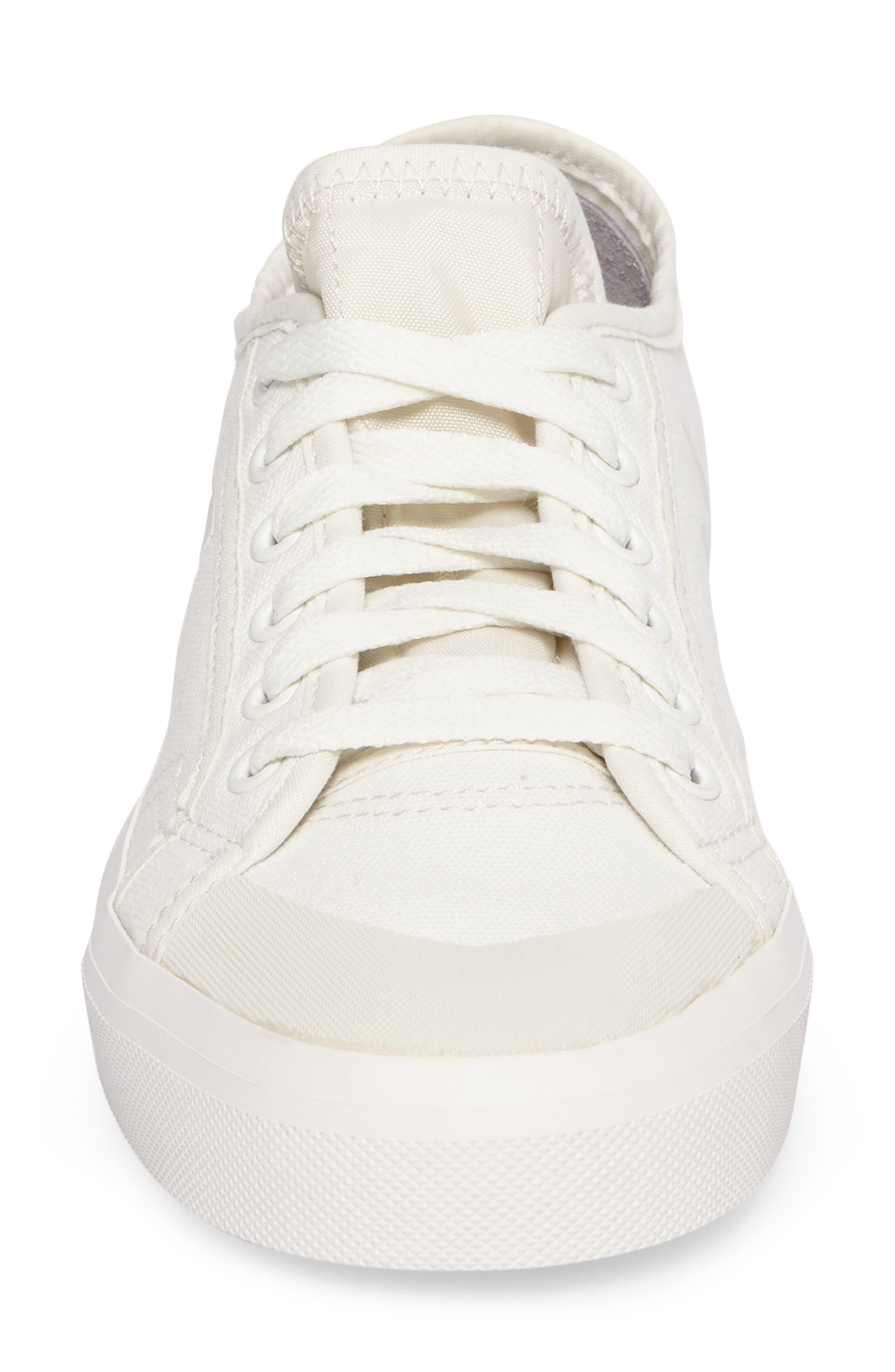 adidas by Raf Simons Spirit Low Top Sneaker,                             Alternate thumbnail 4, color,                             Optic White