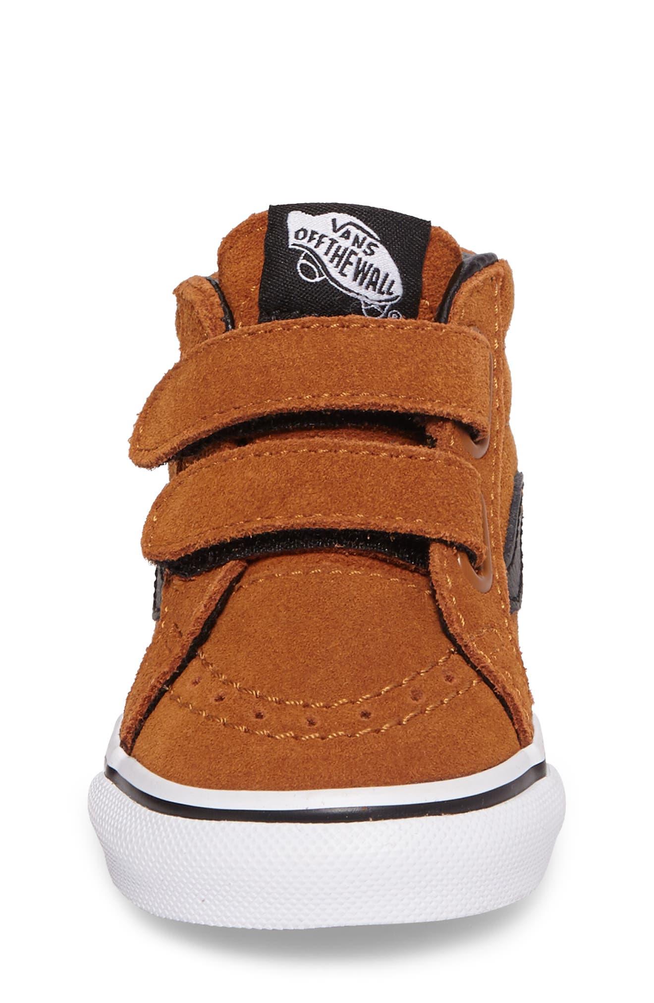 SK8-Mid Reissue Sneaker,                             Alternate thumbnail 4, color,                             Glazed Ginger/ Black