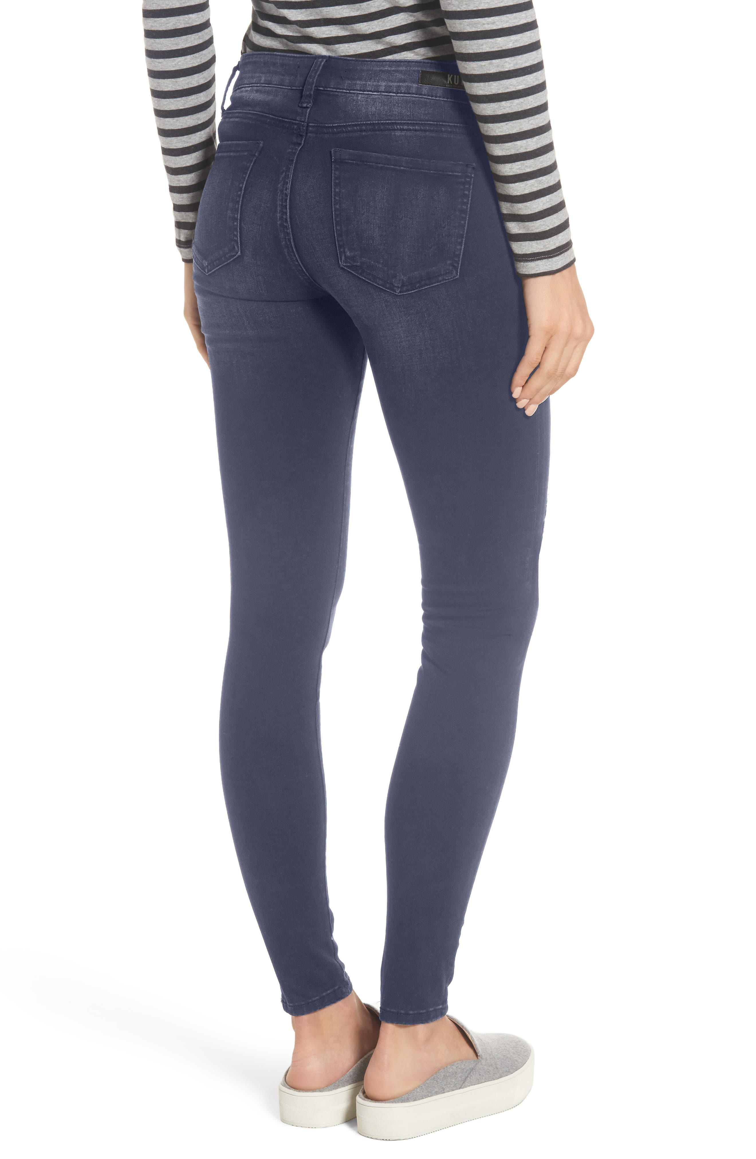 Alternate Image 2  - KUT from the Kloth Mia Embroidered Skinny Jeans (Quintessential) (Regular & Petite)