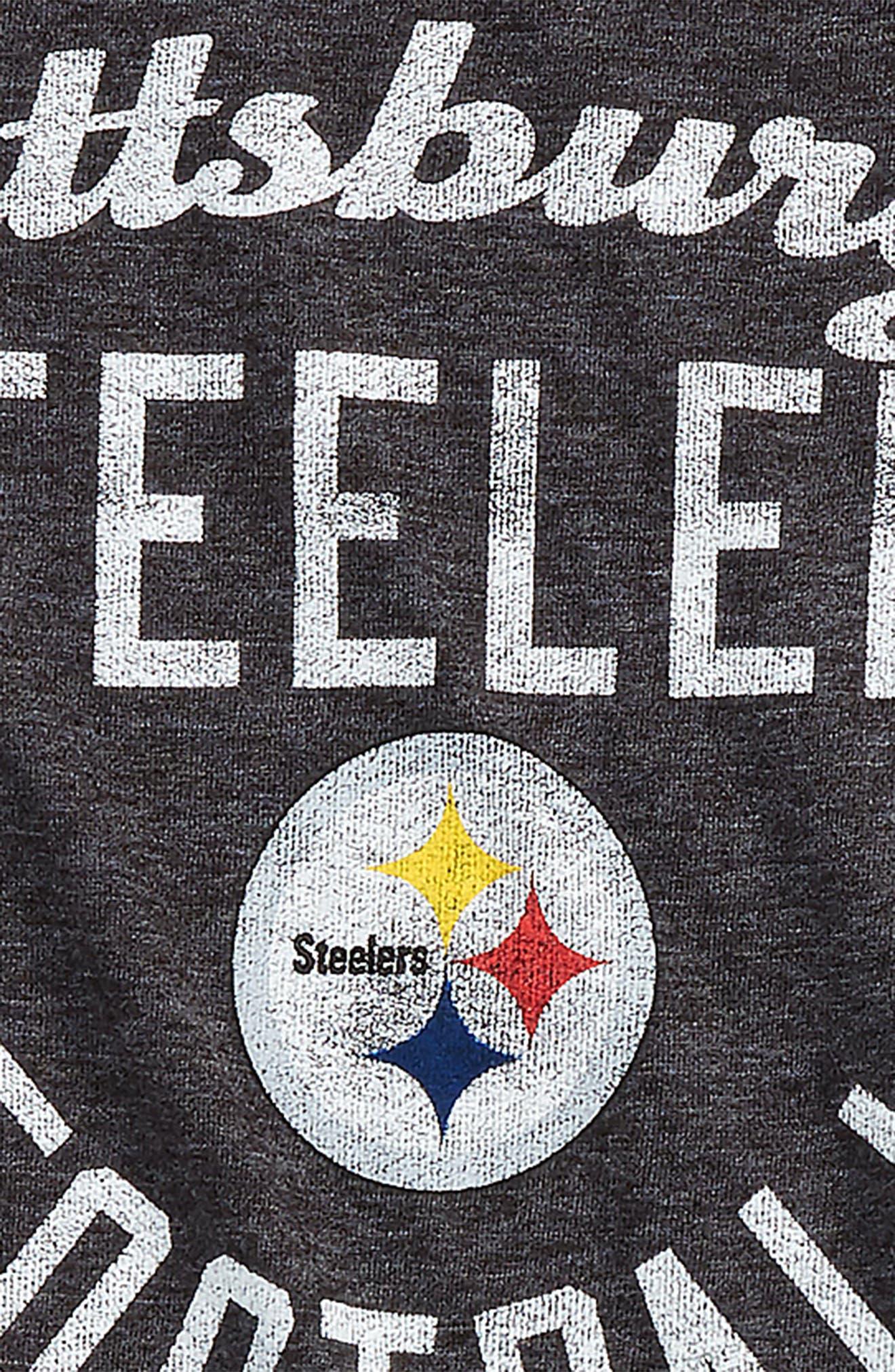 Alternate Image 2  - Outerstuff NFL Pittsburgh Steelers Distressed Logo T-Shirt (Big Boys)