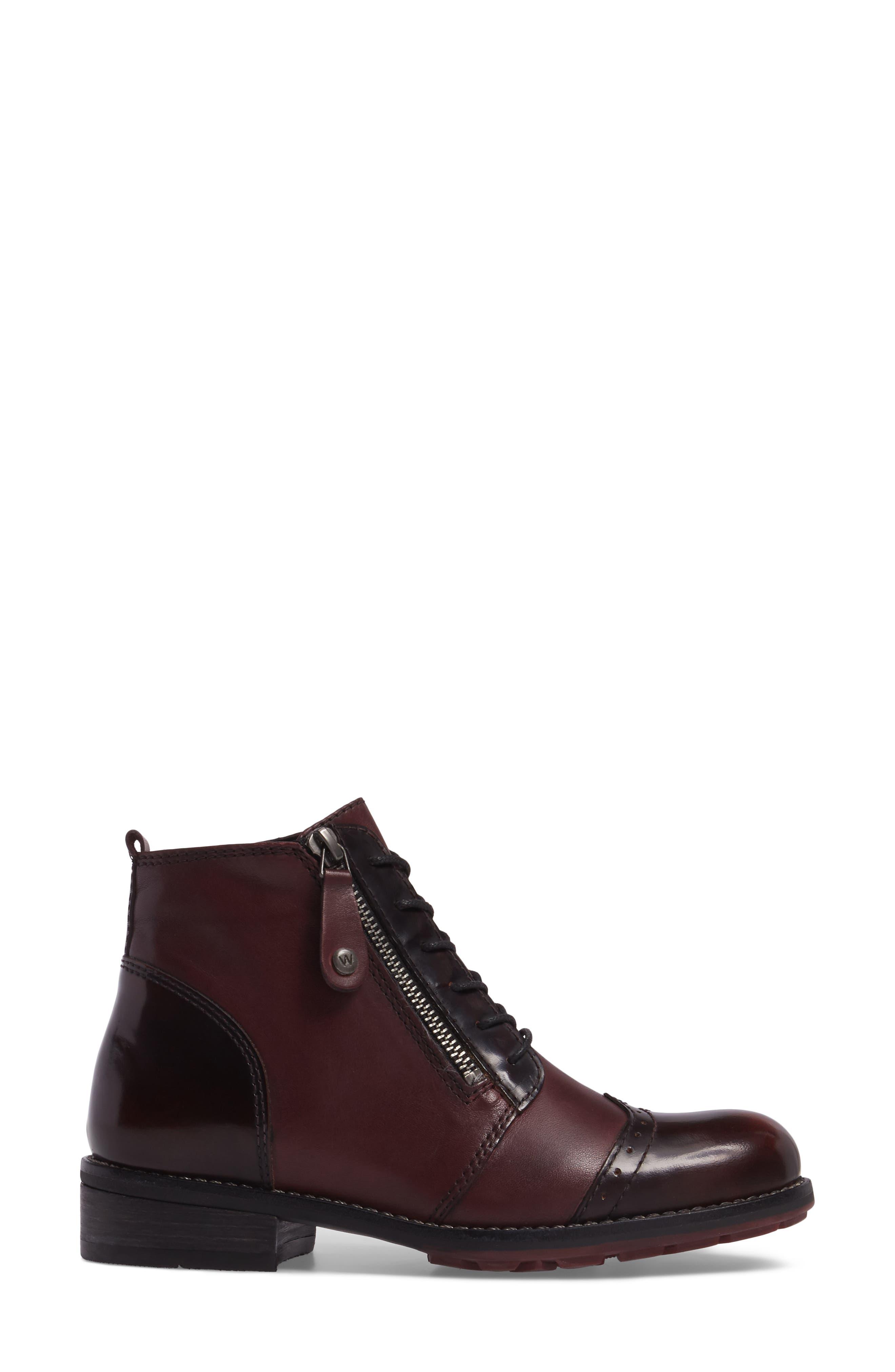 Millstream Boot,                             Alternate thumbnail 3, color,                             Bordo Leather