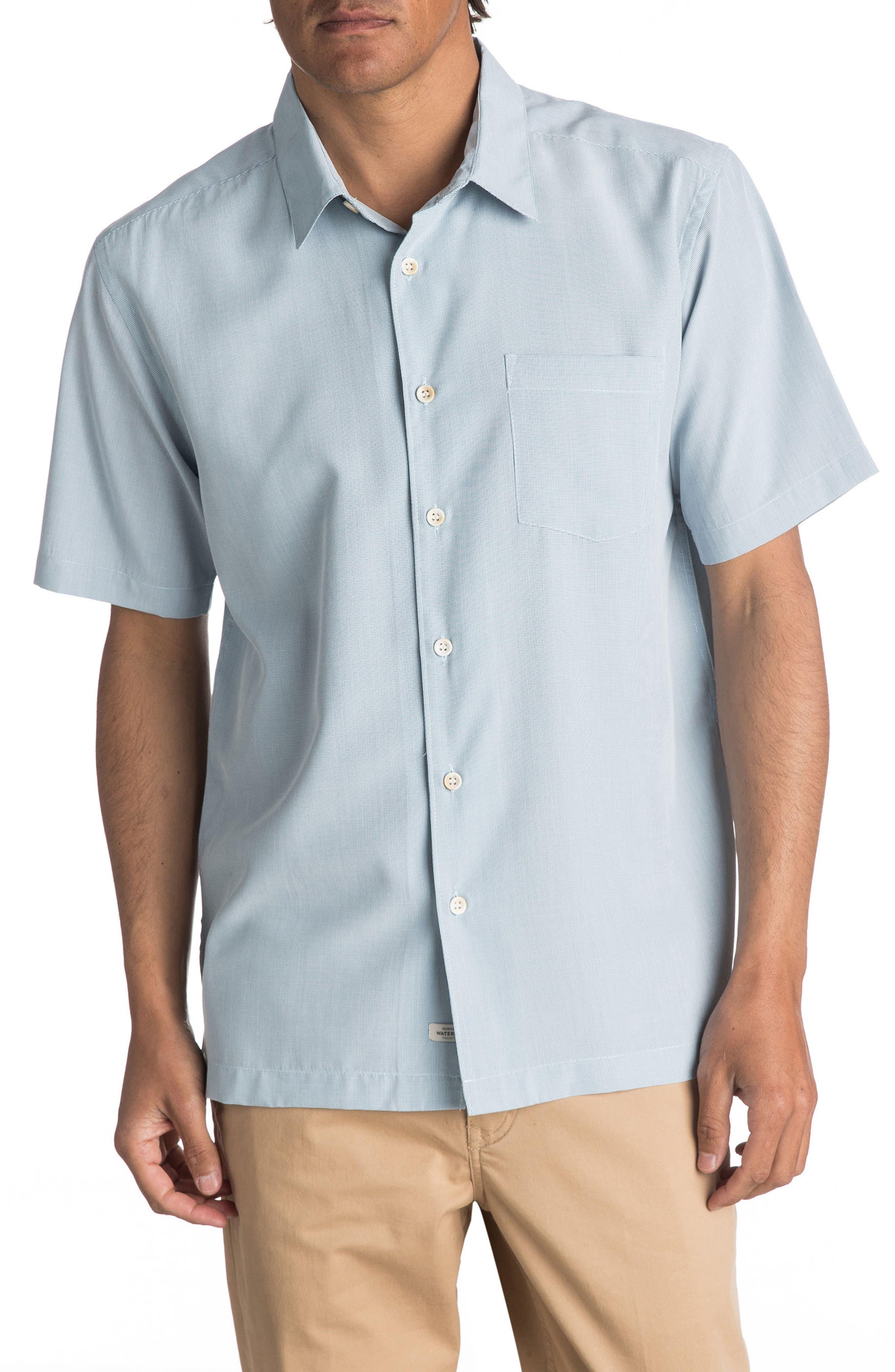 'Cane Island' Regular Fit Short Sleeve Sport Shirt,                         Main,                         color, Celestial