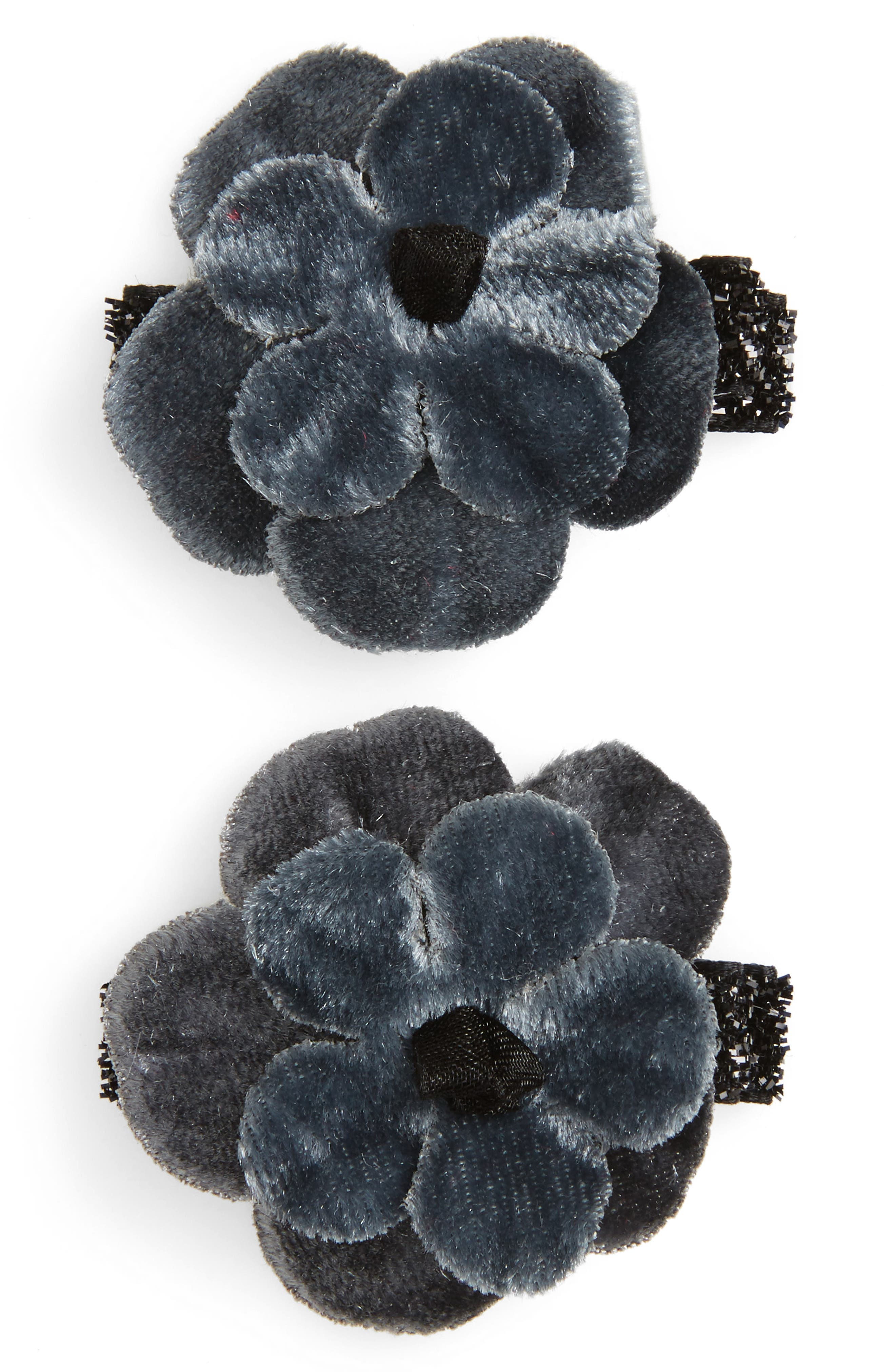 PLH Bows & Laces 2-Pack Velvet Flower Clips (Baby Girls)