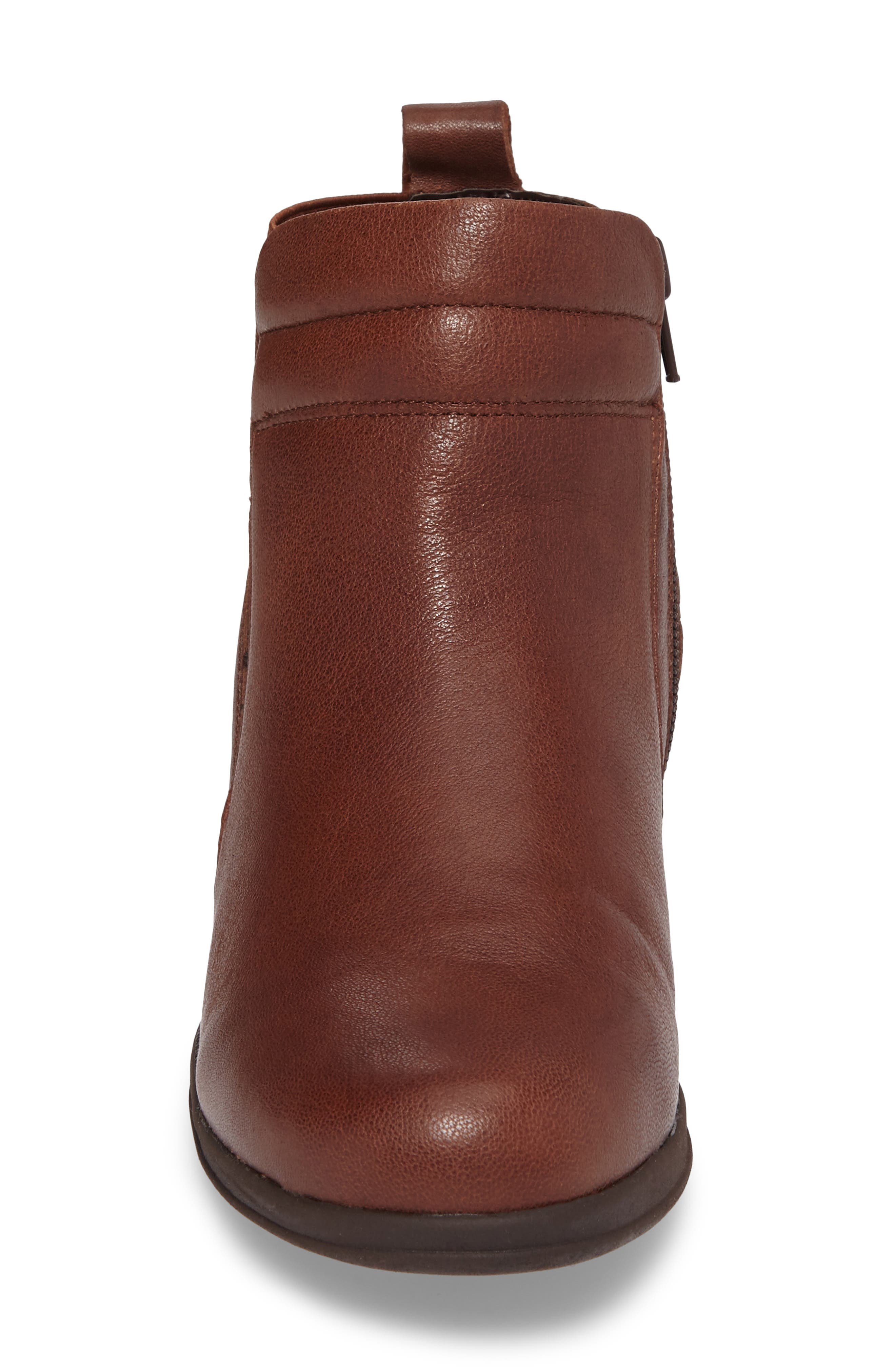 Cactus Bootie,                             Alternate thumbnail 4, color,                             Brown Leather