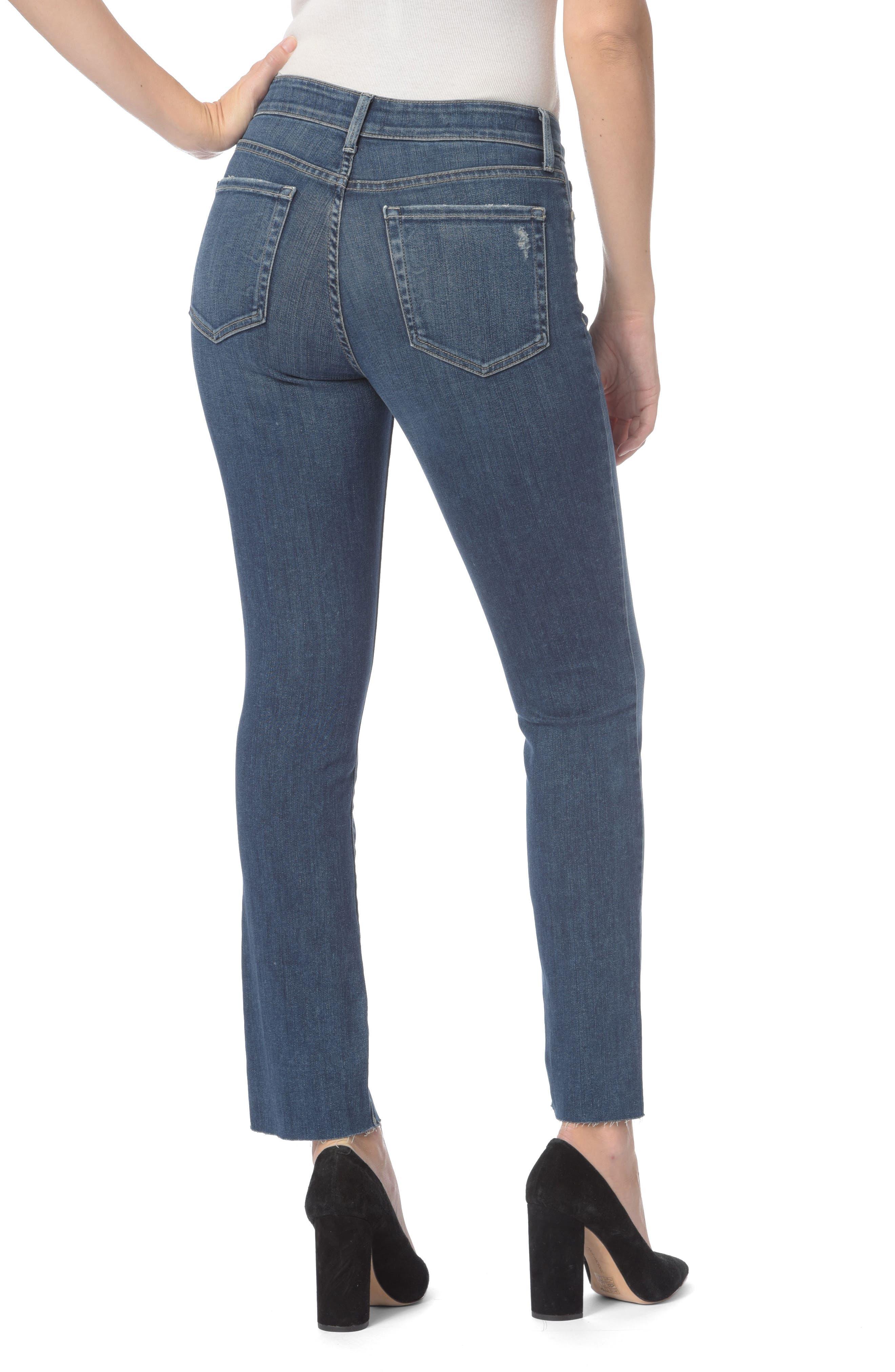 Sheri Raw Hem Stretch Slim Ankle Jeans,                             Alternate thumbnail 2, color,                             Parke