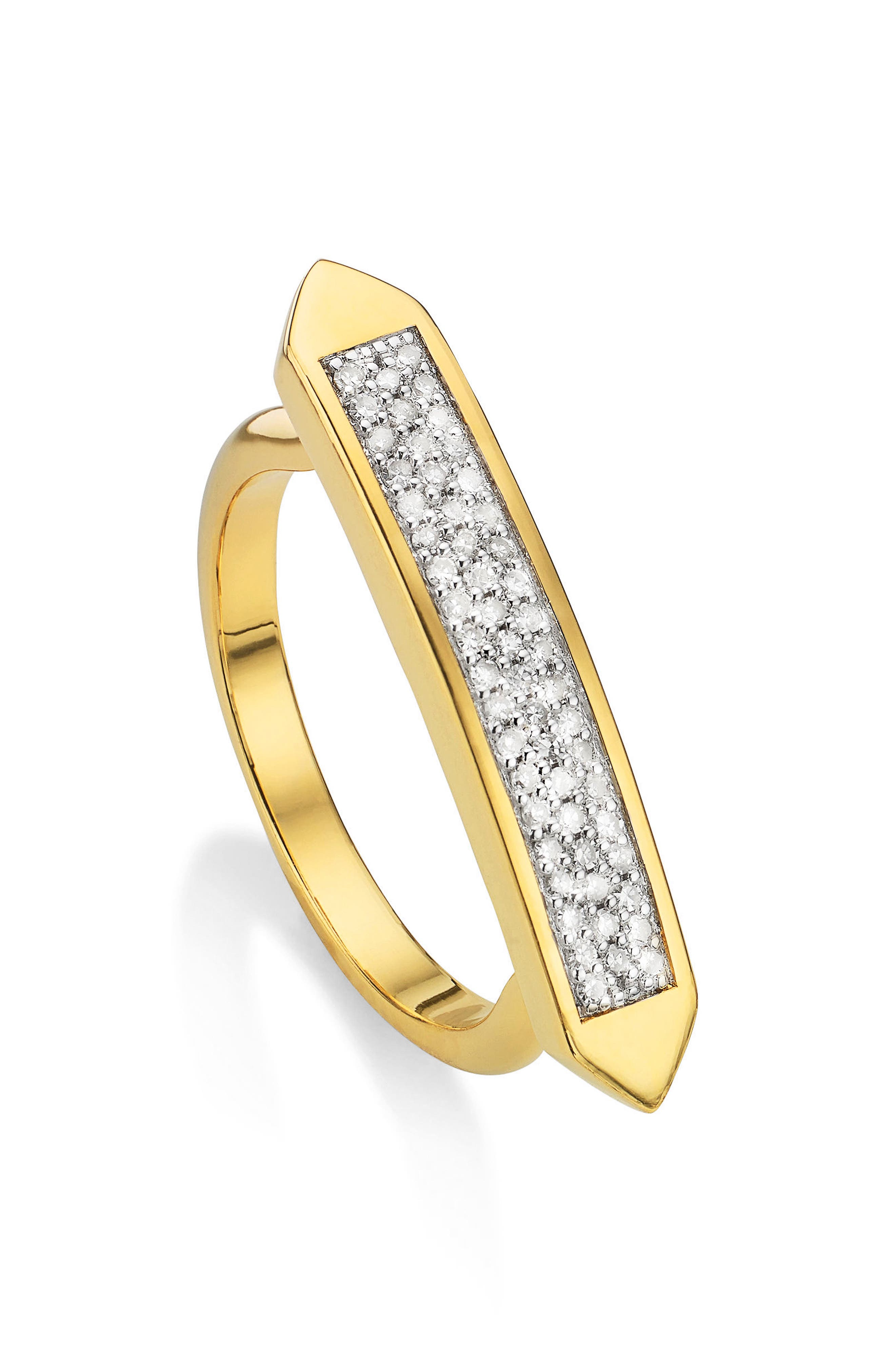 Monica Vinader Baja Skinny Diamond Stacking Ring