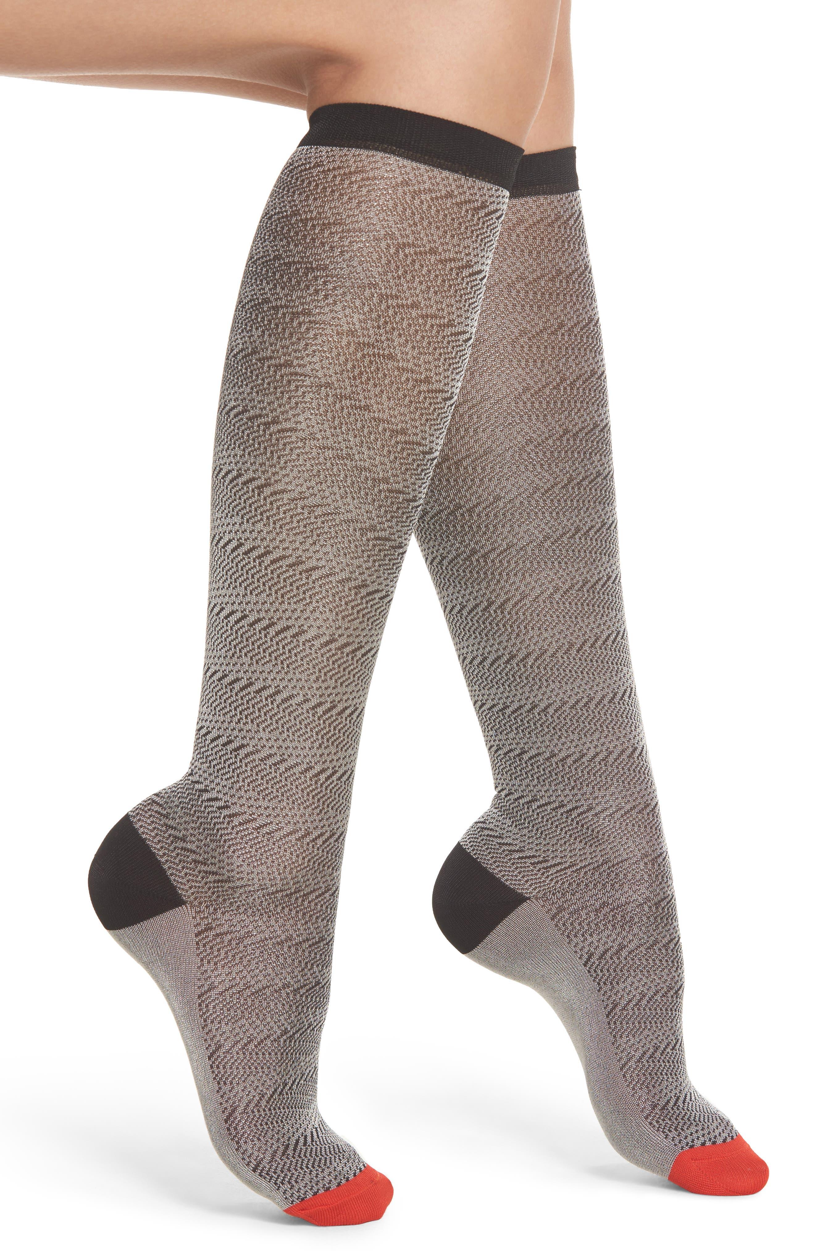 Jane Knee High Socks,                         Main,                         color, Black