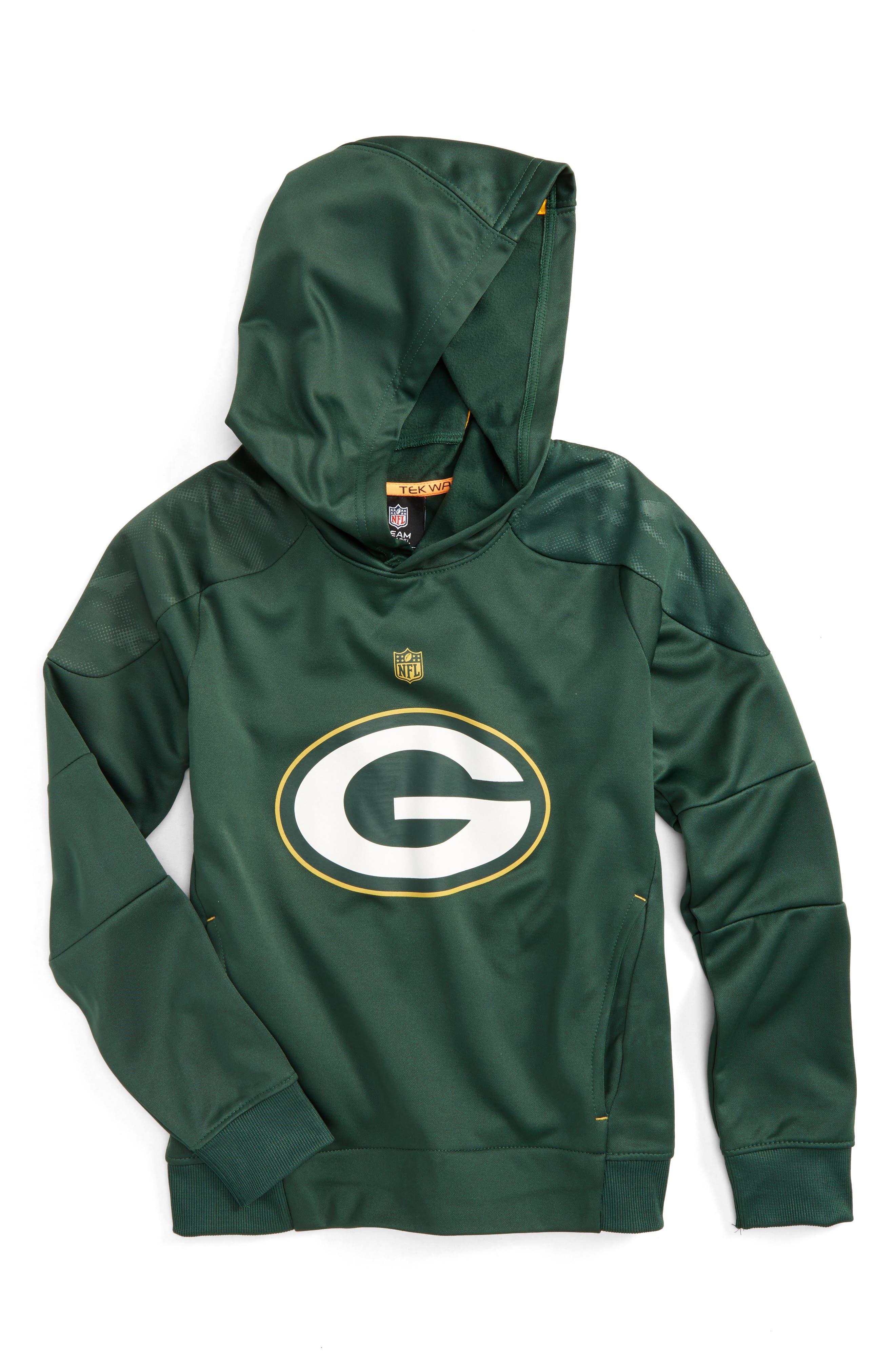 NFL Green Bay Packers Hoodie,                             Main thumbnail 1, color,                             Hunter