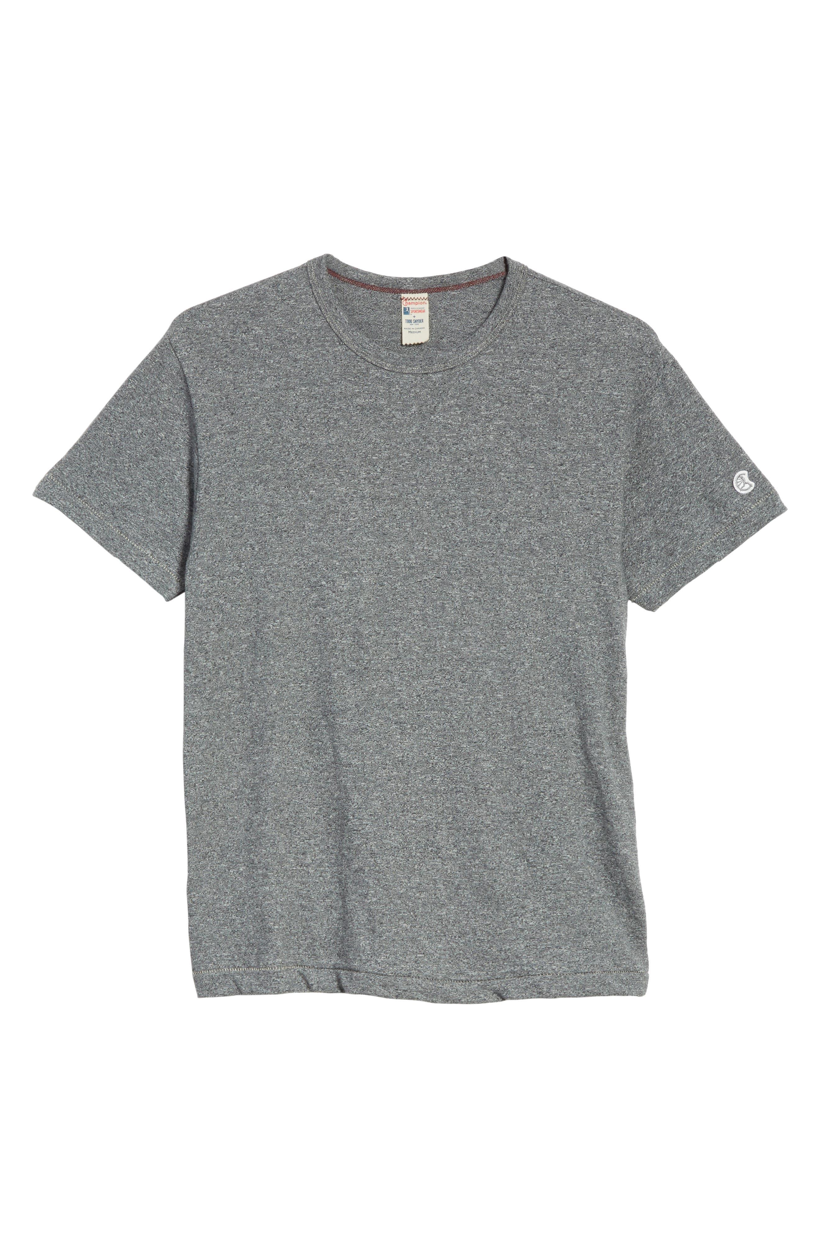 Alternate Image 6  - Todd Snyder + Champion Heathered Crewneck T-Shirt