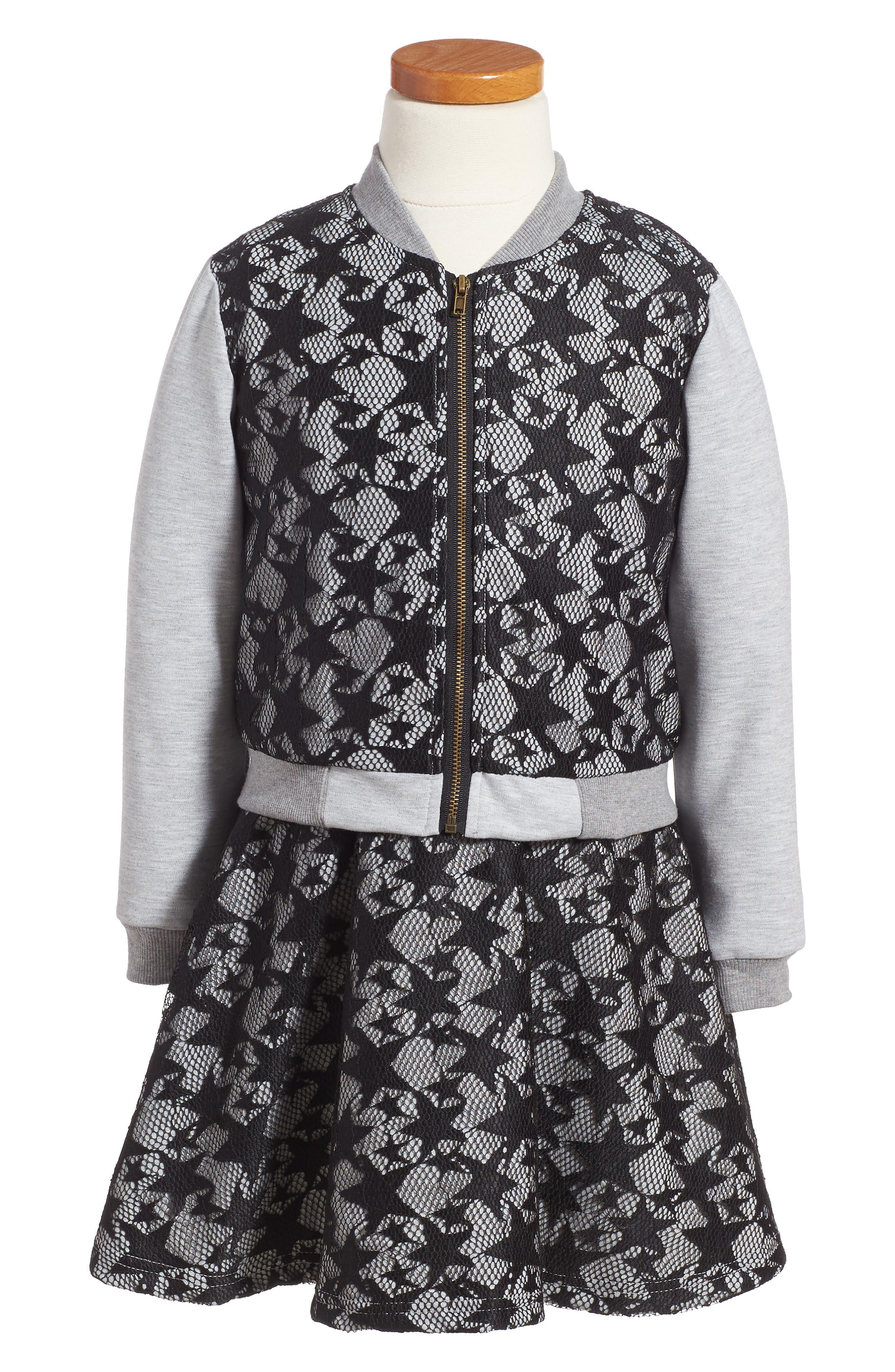 Pippa & Julie Lace Dress & Jacket Set (Toddler Girls & Little Girls)