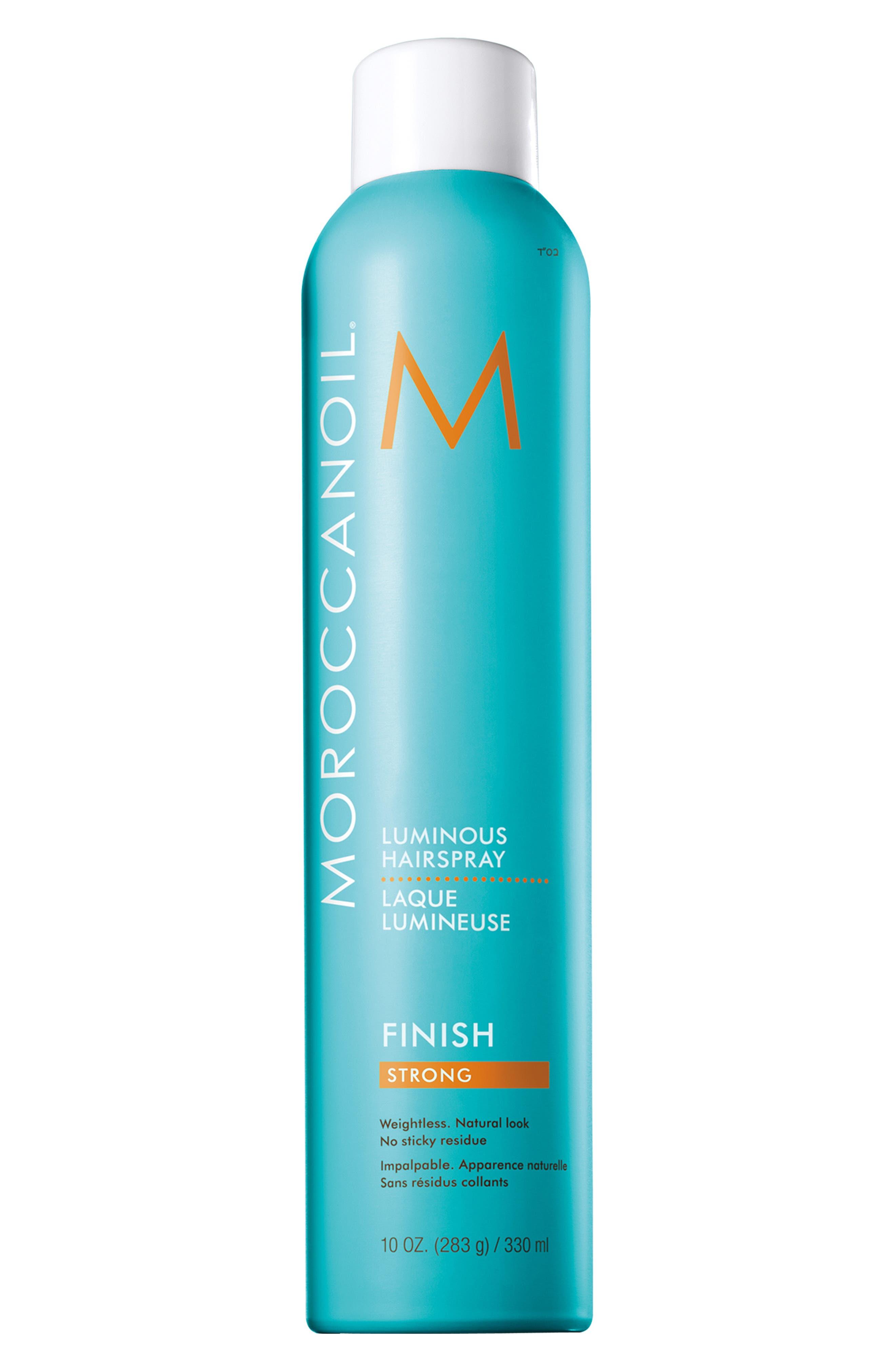 MOROCCANOIL 'Luminous' Hairspray Strong,                             Main thumbnail 1, color,                             No Color