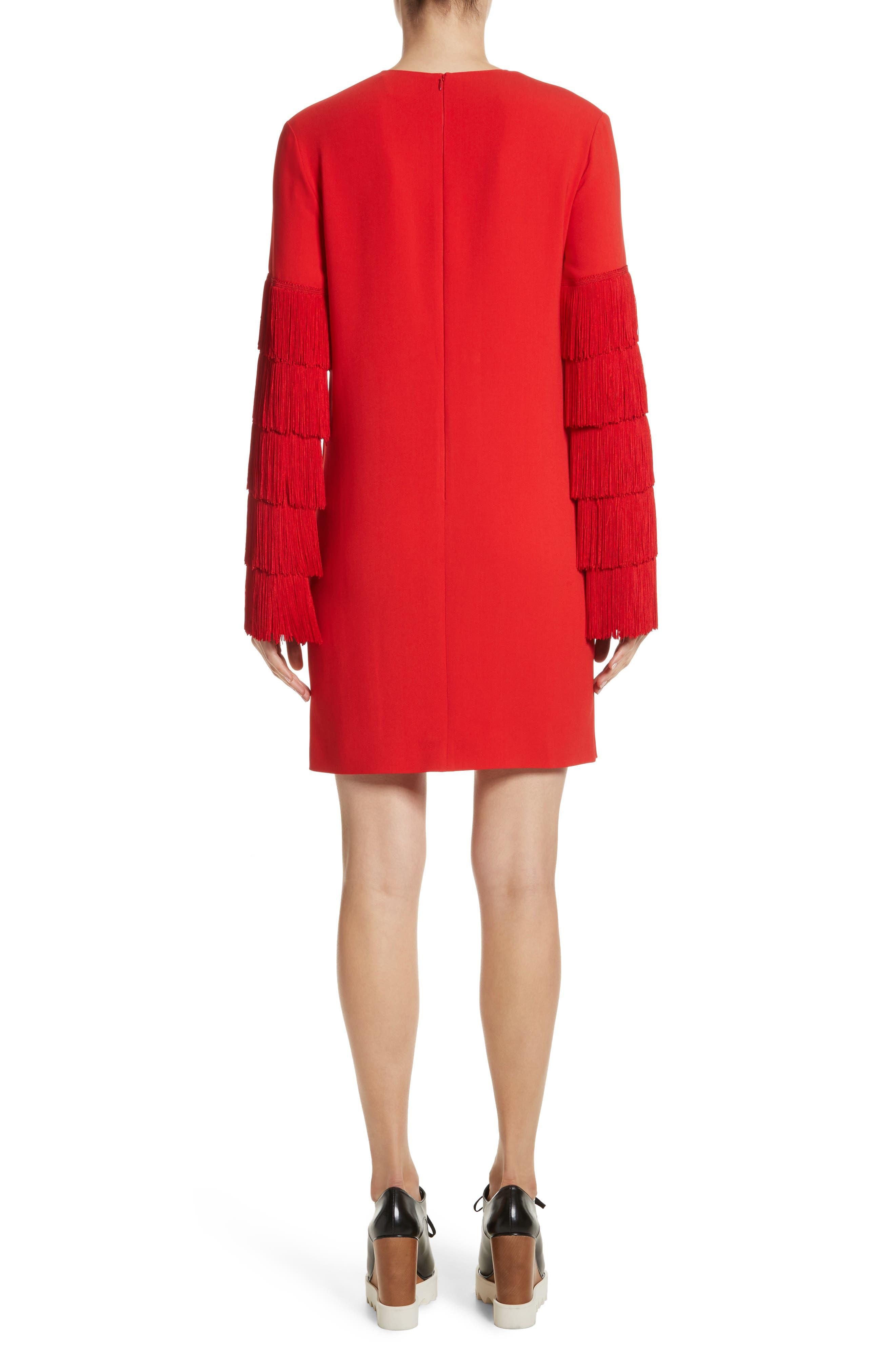 Alternate Image 4  - Stella McCartney Fringe Sleeve Stretch Cady Dress