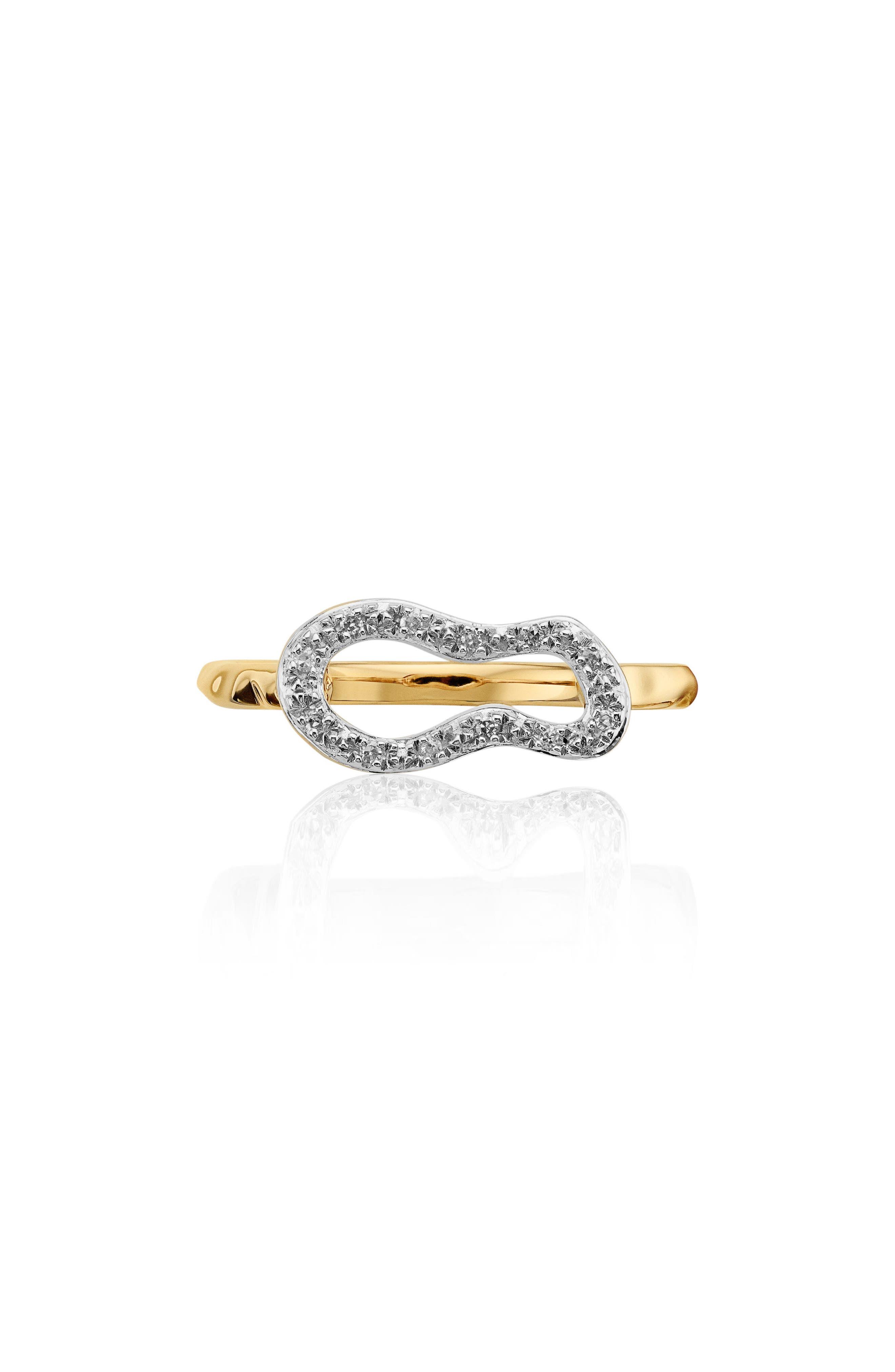 Alternate Image 3  - Monica Vinader Riva Mini Pod Vermeil Diamond Ring