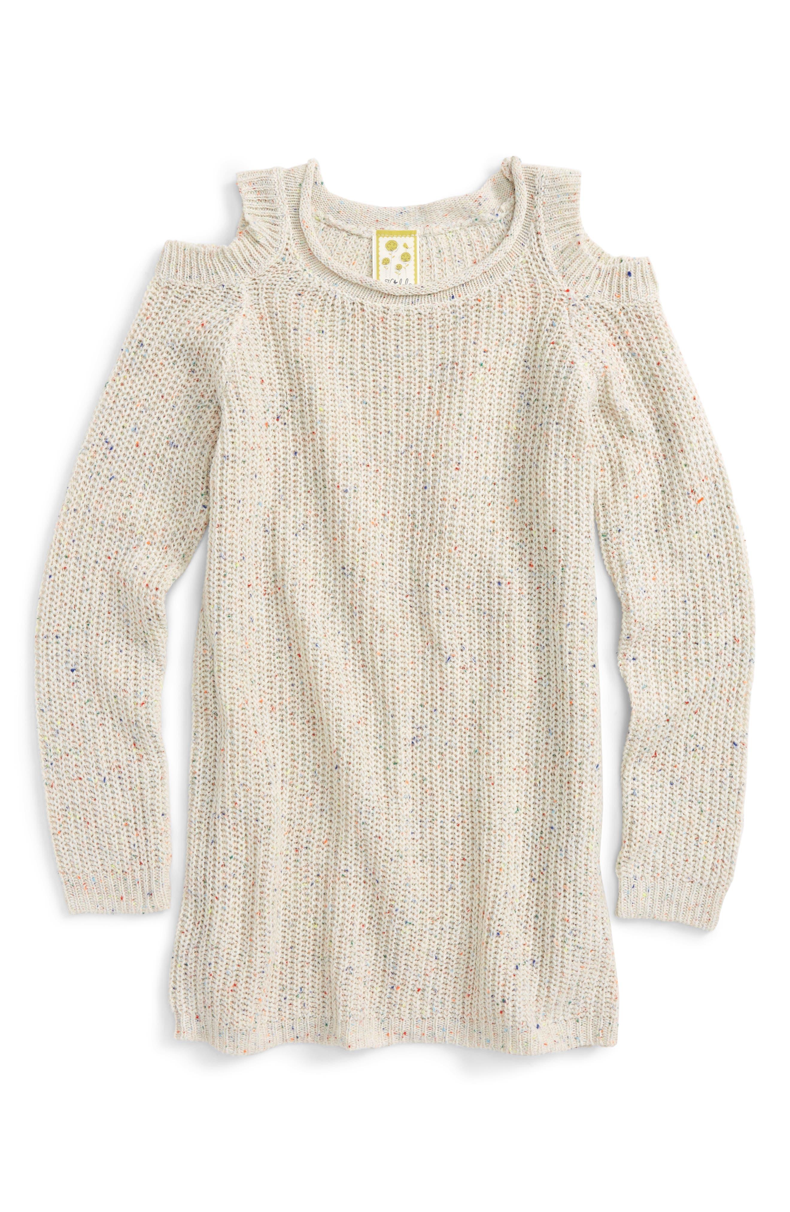 Cold Shoulder Sweater,                             Main thumbnail 1, color,                             Multi